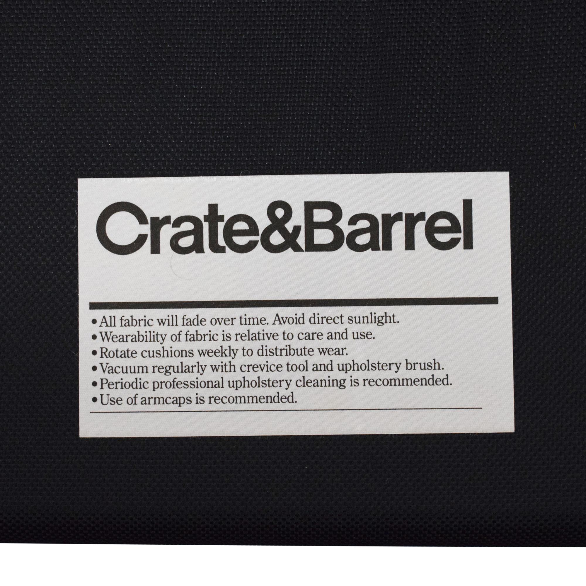 Crate & Barrel Crate & Barrel Barrett Twin Sleeper tan