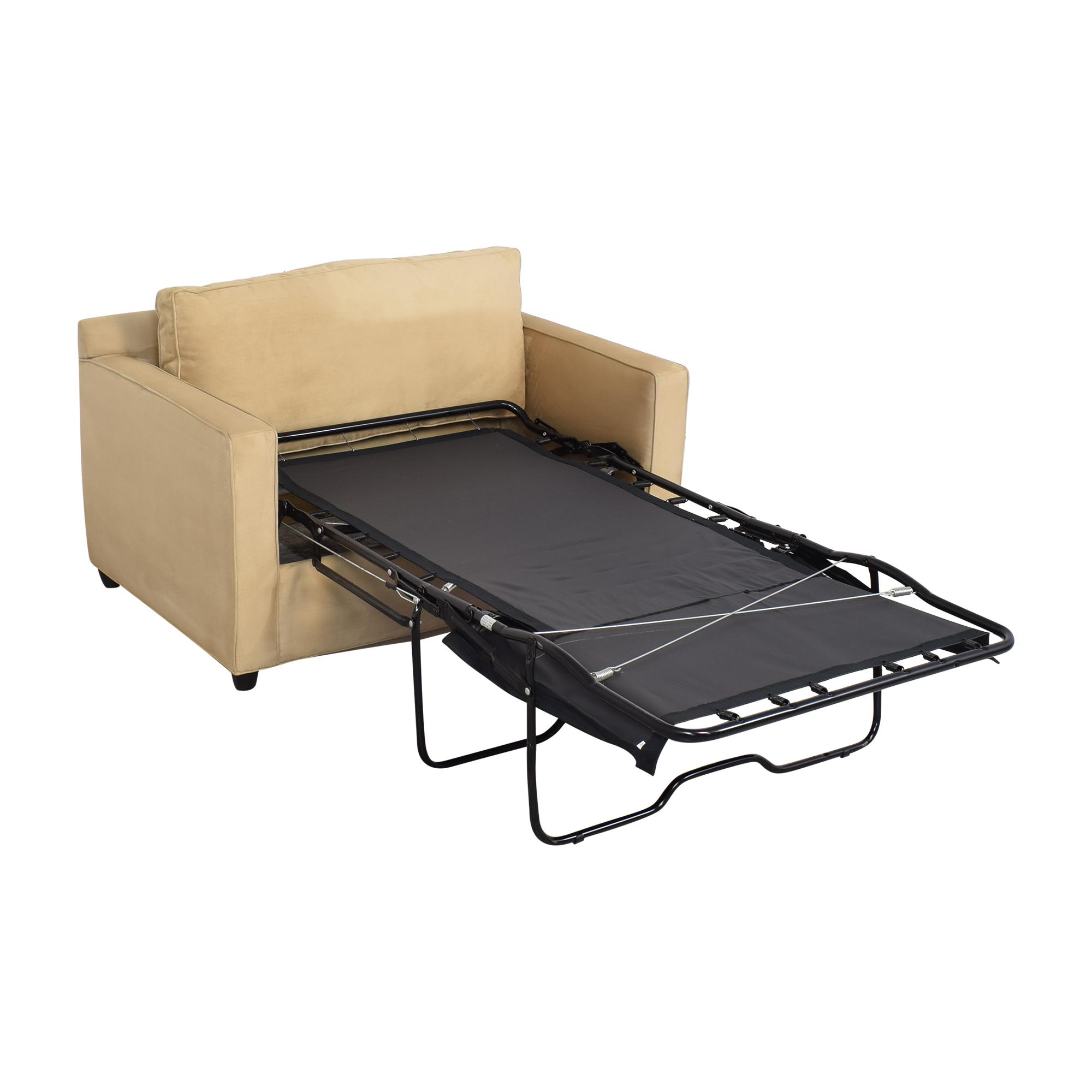 shop Crate & Barrel Barrett Twin Sleeper Crate & Barrel Accent Chairs