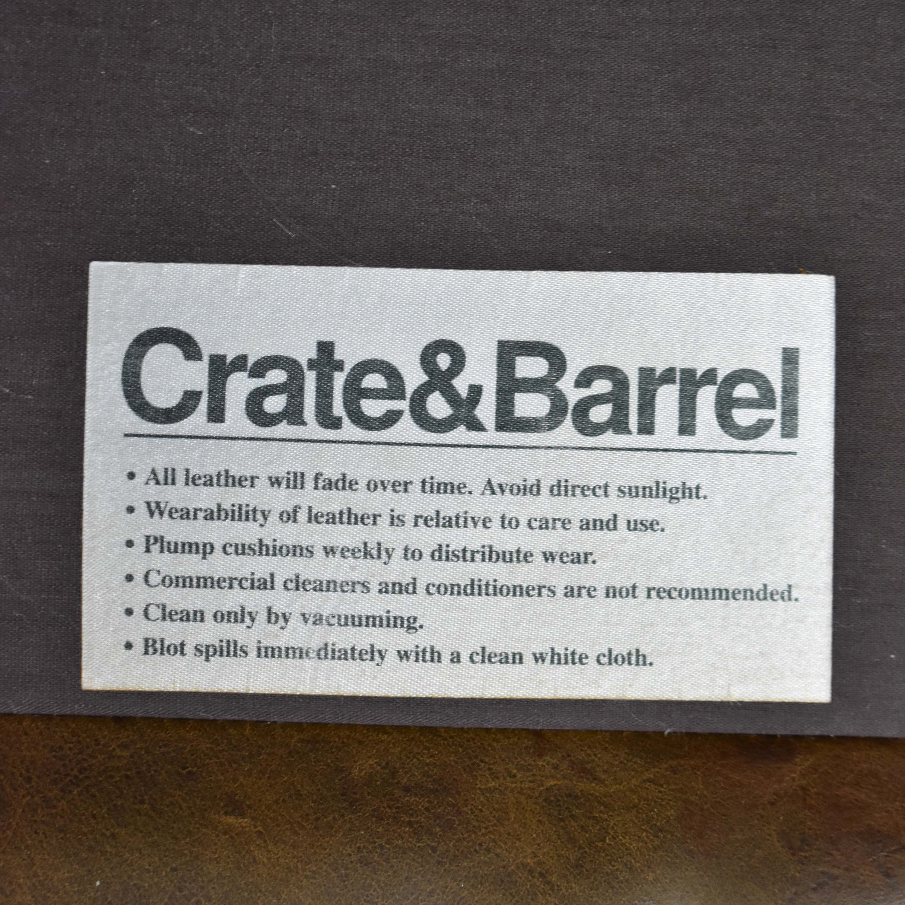 buy Crate & Barrel Ottoman Crate & Barrel