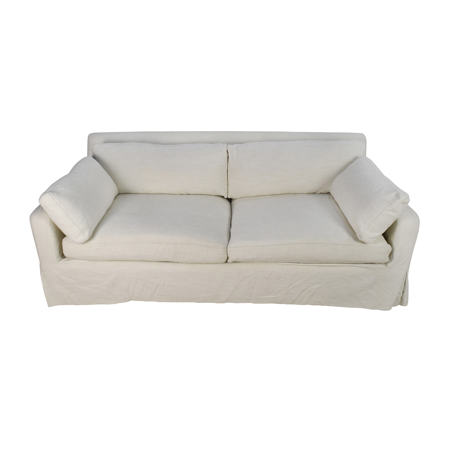 Restoration Hardware Restoration Hardware Belgian Track Arm Slipcovered Sofa on sale