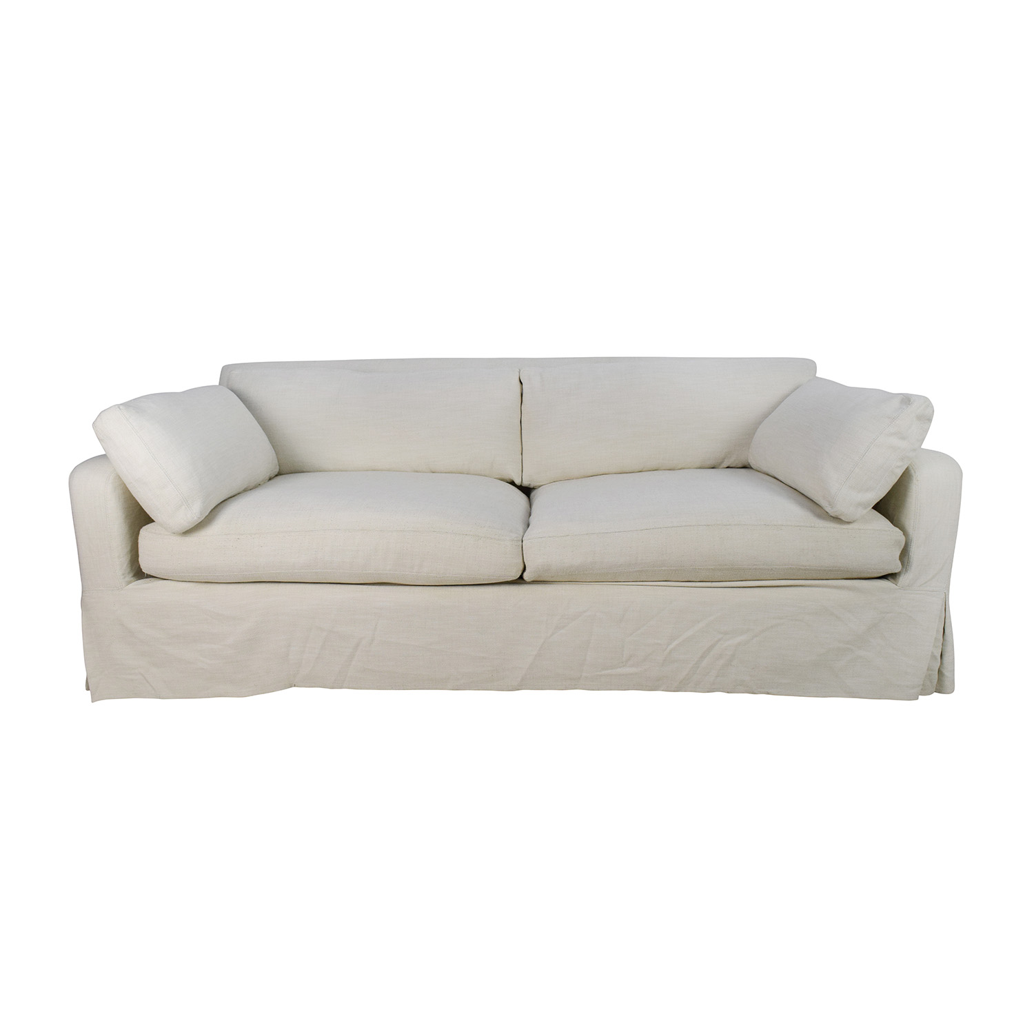 Restoration Hardware Restoration Hardware Belgian Track Arm Slipcovered Sofa used