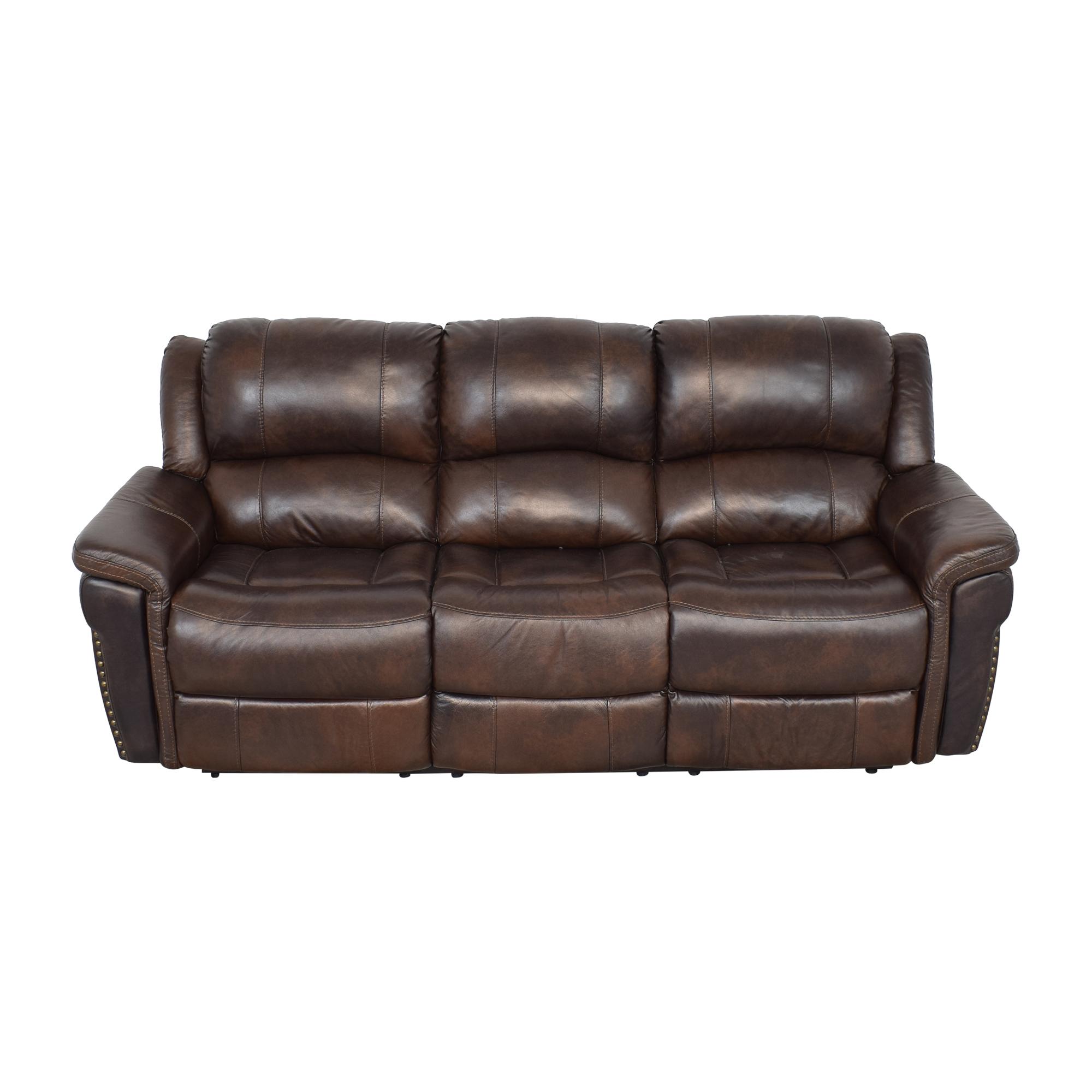 Delancey Street Furniture Recliner Sofa brown