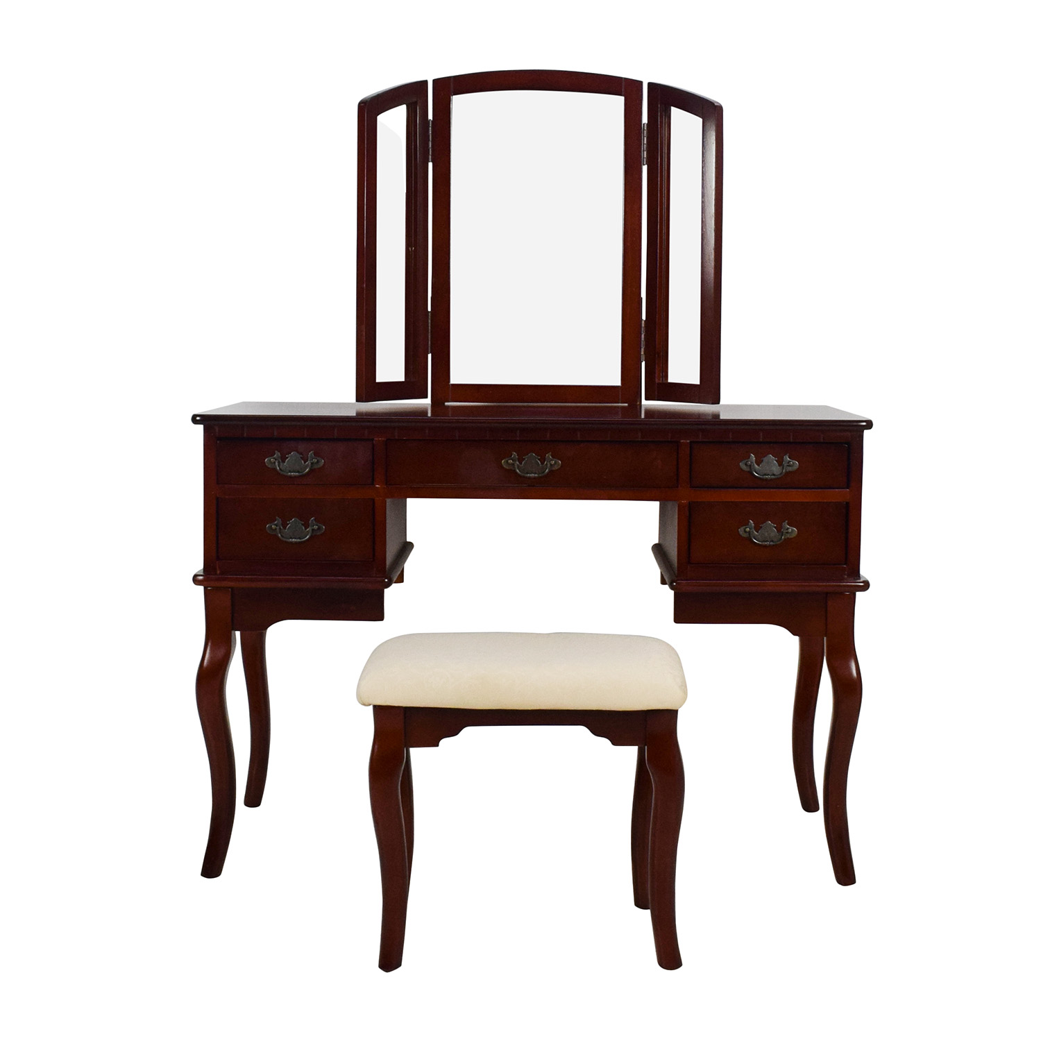 shop Hardwood Vanity with Matching Stool Tables