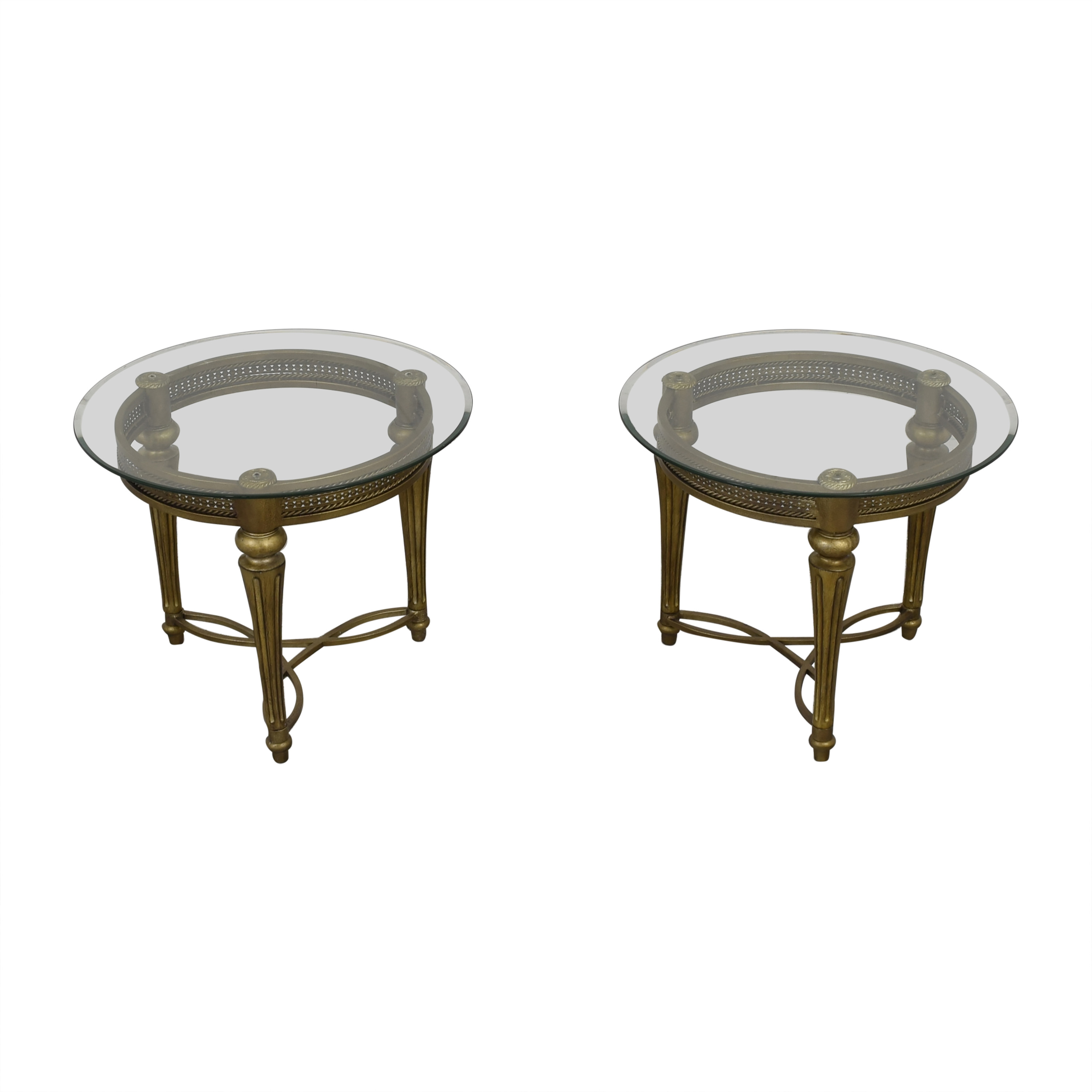 Magnussen Home Furniture Galloway Round End Tables / Tables