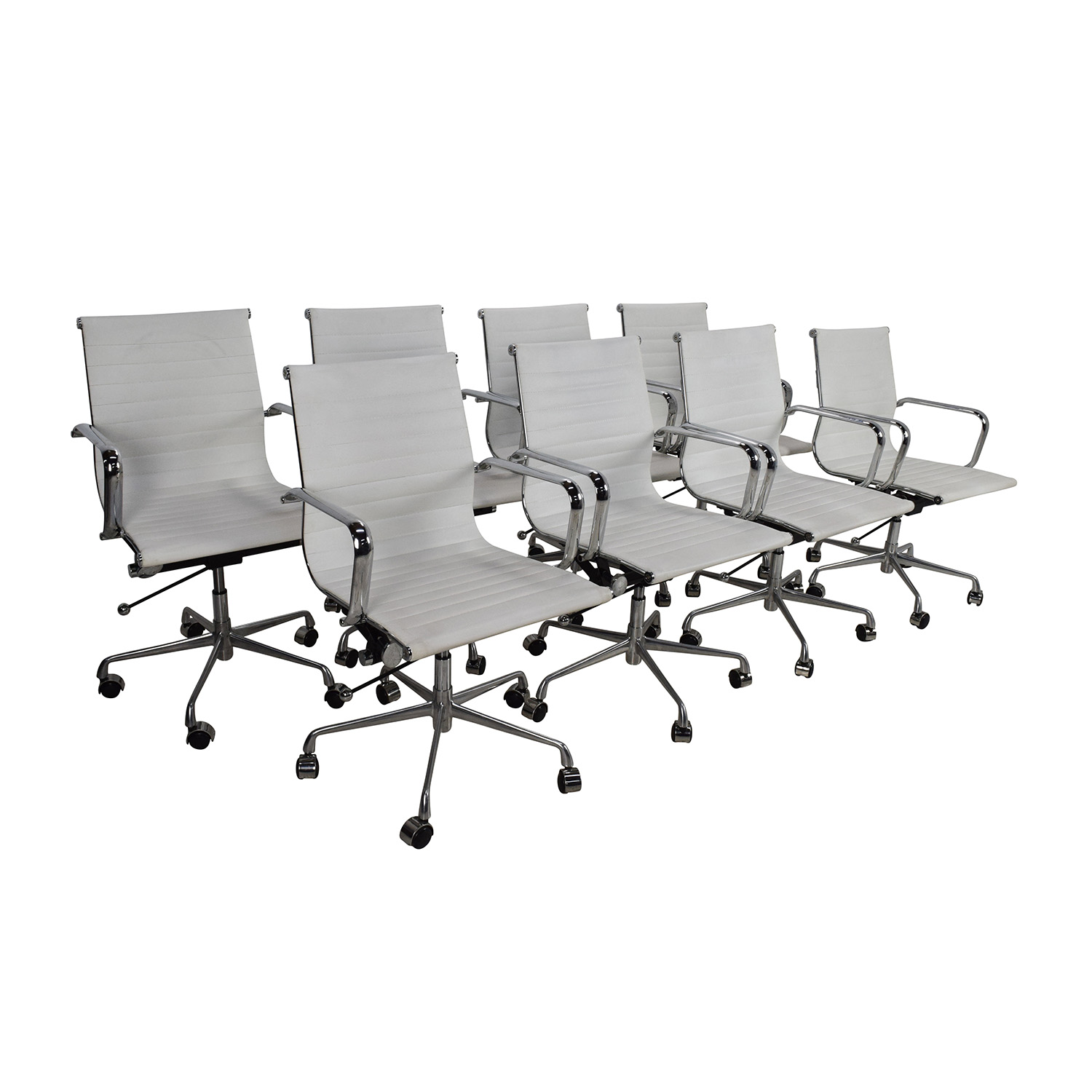 66 Off Laura Davidson Laura Davidson Eames Replica Office Chair Set Chairs