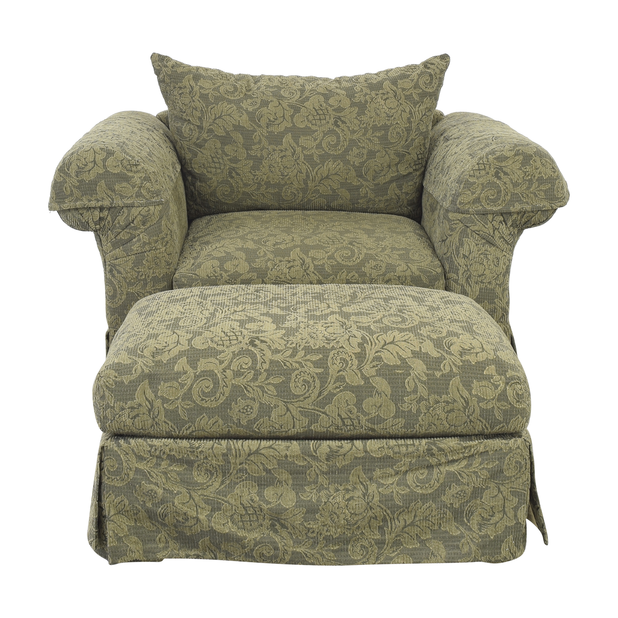 Rowe Furniture Rowe Furniture Lodge Chair with Ottoman for sale
