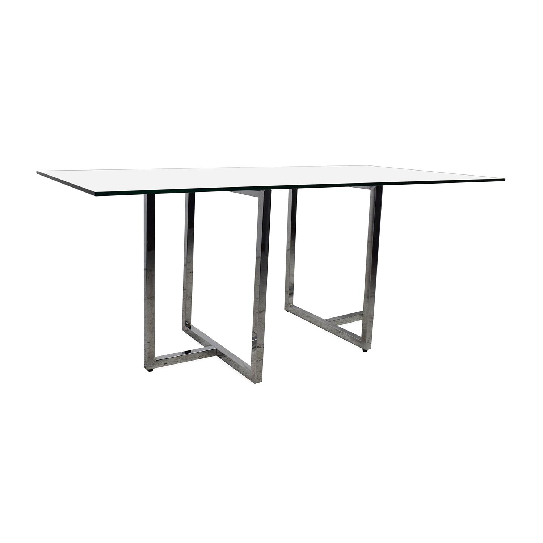 OFF CB2 CB2 Silverado Dining Table Tables
