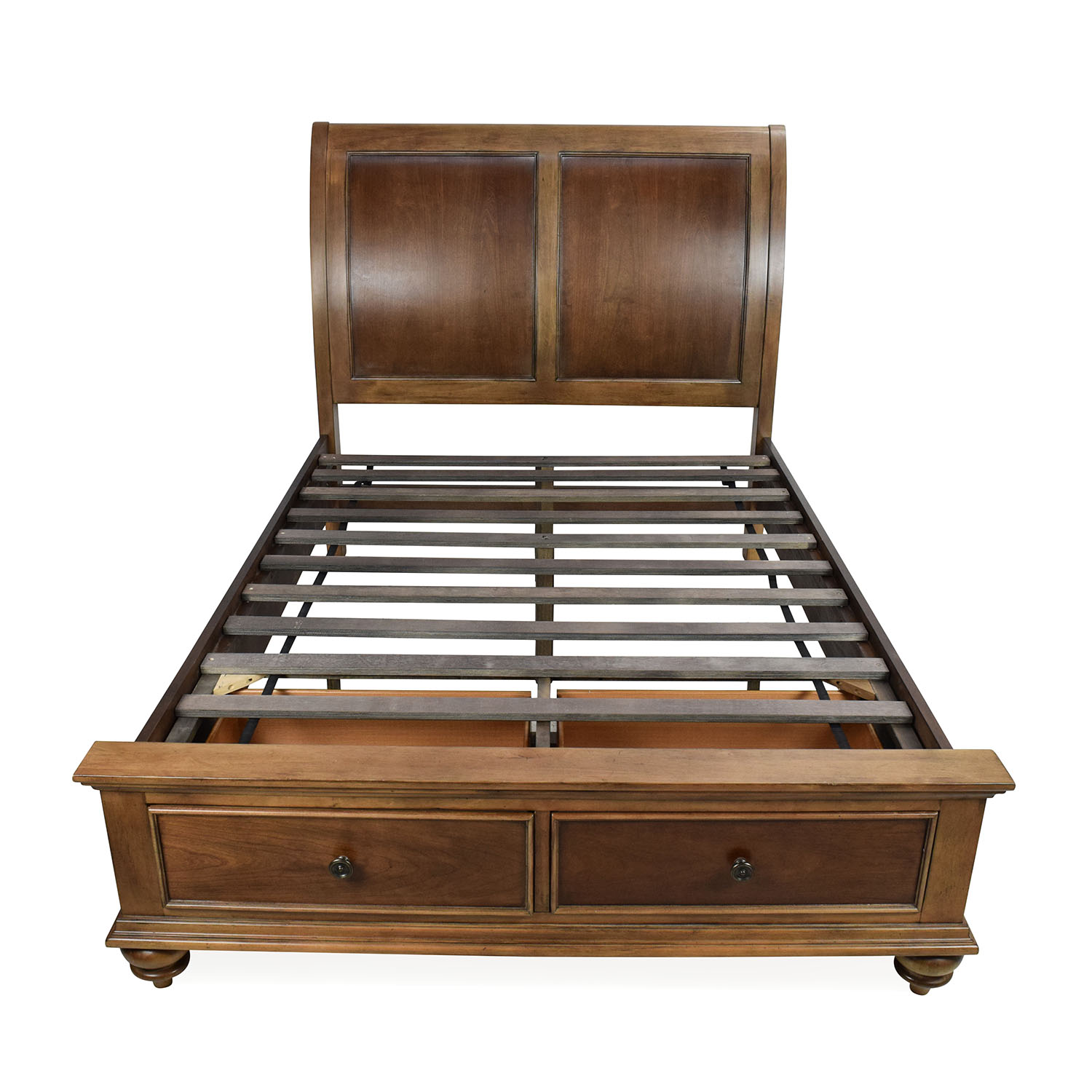 Raymour and Flanigan Raymour & Flanigan Rustic Brown Full-Sized Storage Bed Beds