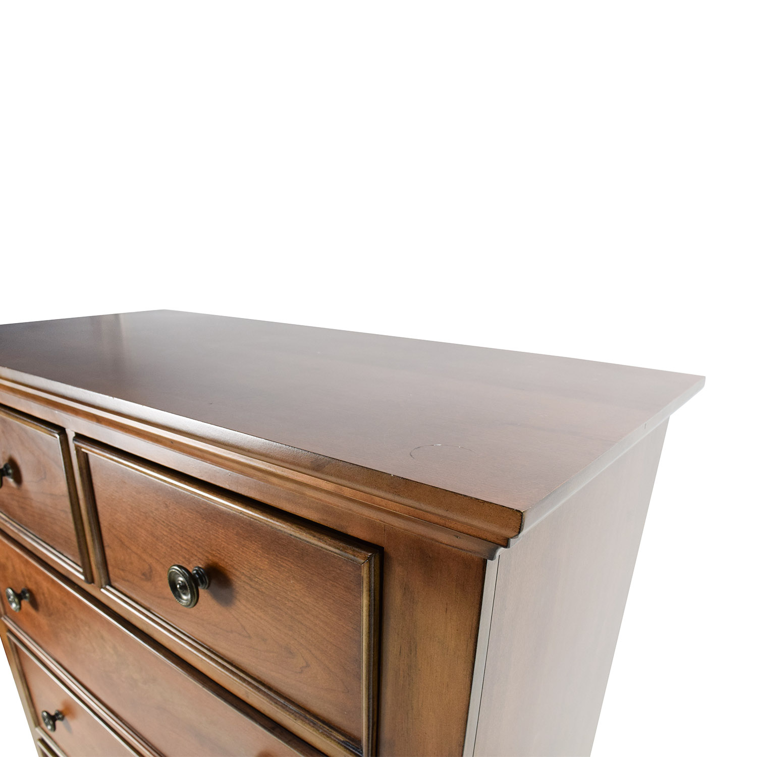 56% OFF - Raymour and Flanigan Raymour & Flanigan Tall Rustic Wood Chest of Drawers / Storage