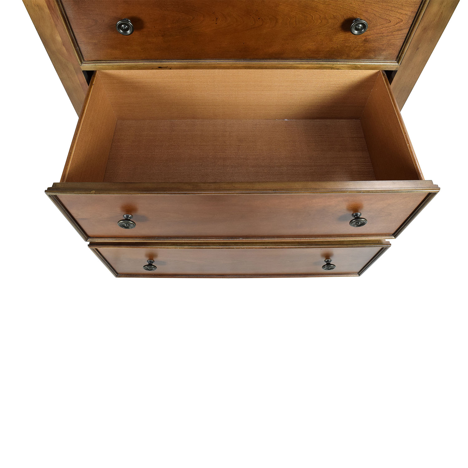 Raymour & Flanigan Tall Rustic Wood Chest of Drawers sale