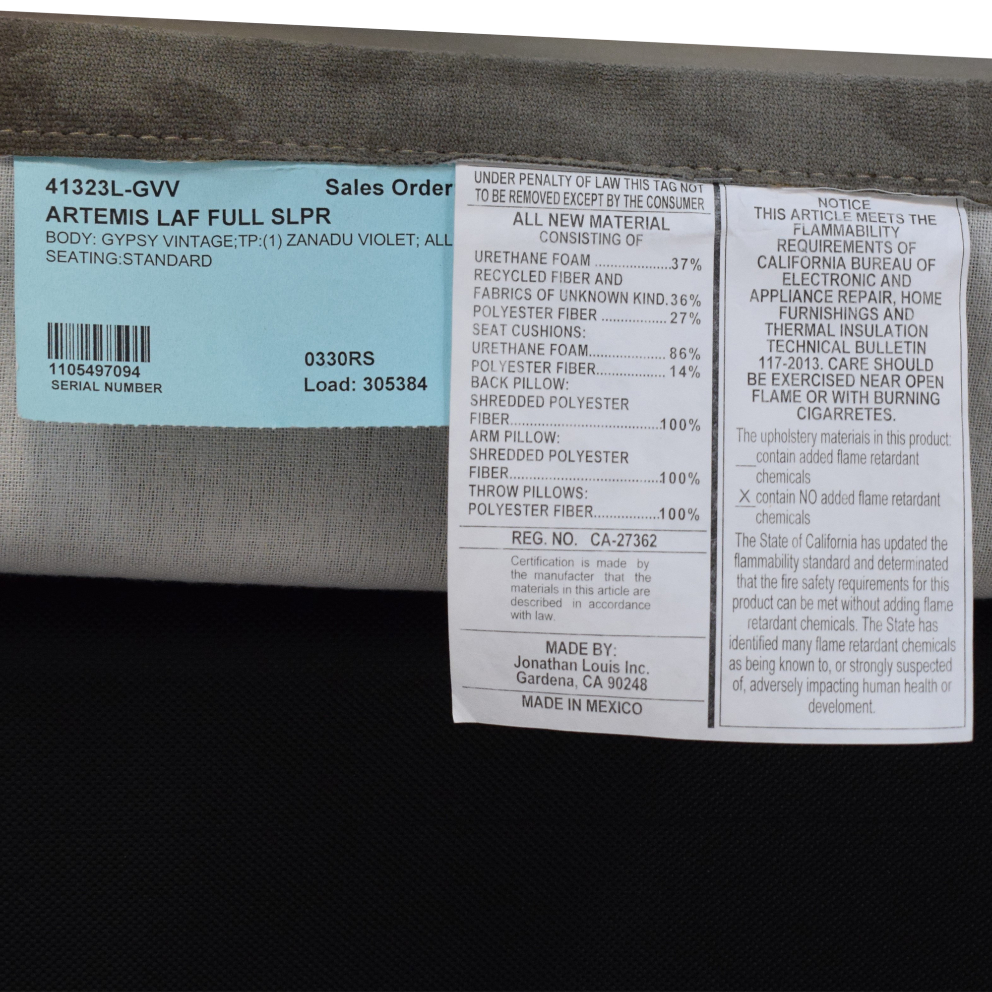 Raymour & Flanigan Raymour & Flanigan Artemis II Sectional Sofa with Sleeper pa