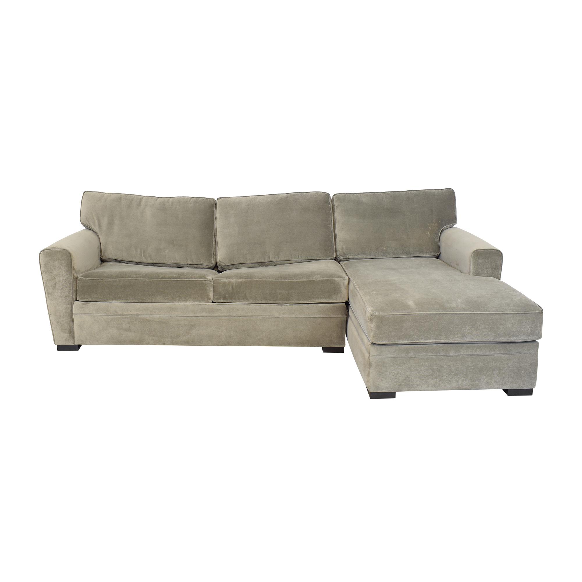 shop Raymour & Flanigan Artemis II Sectional Sofa with Sleeper Raymour & Flanigan Sectionals