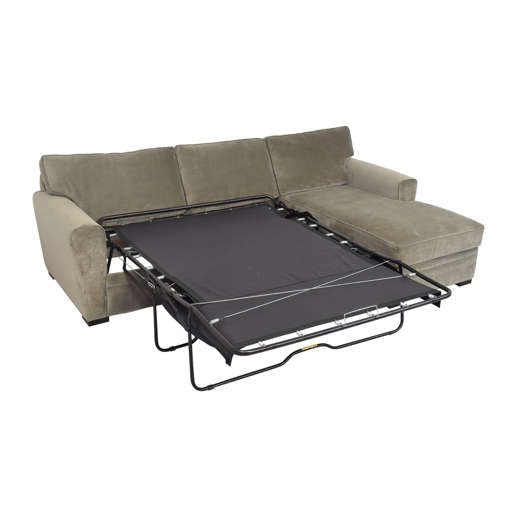 Raymour & Flanigan Raymour & Flanigan Artemis II Sectional Sofa with Sleeper for sale