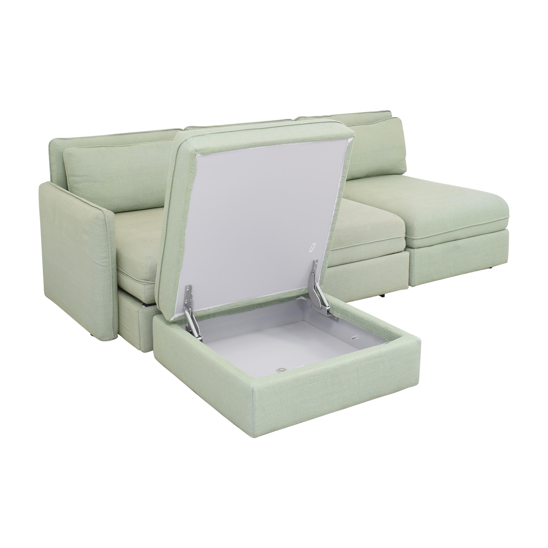 IKEA IKEA Vallentuna Modular Sleeper Sofa with Storage Ottoman used