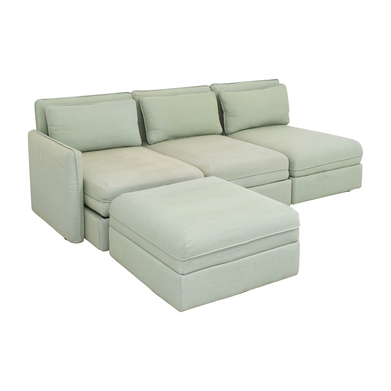 shop IKEA Vallentuna Modular Sleeper Sofa with Storage Ottoman IKEA