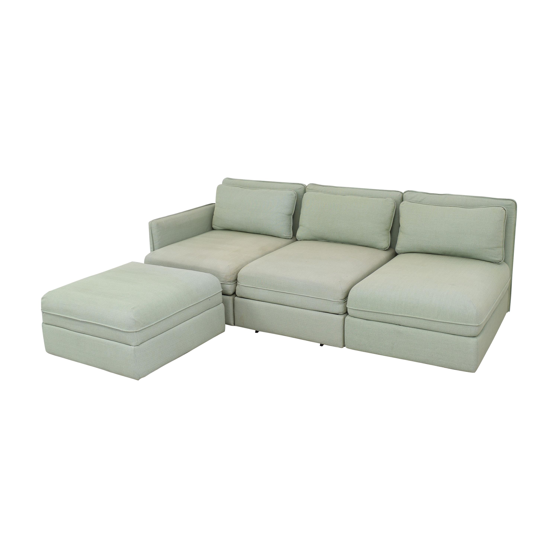 IKEA IKEA Vallentuna Modular Sleeper Sofa with Storage Ottoman dimensions