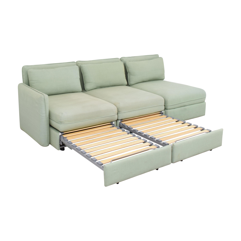 IKEA IKEA Vallentuna Modular Sleeper Sofa with Storage Ottoman for sale