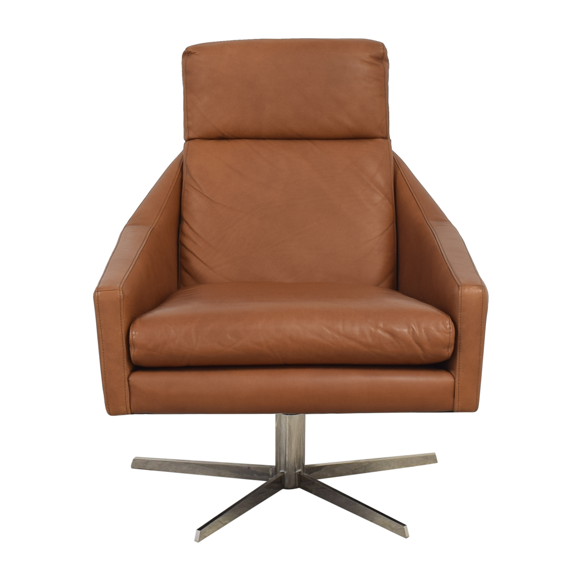 buy West Elm Austin Swivel Armchair West Elm