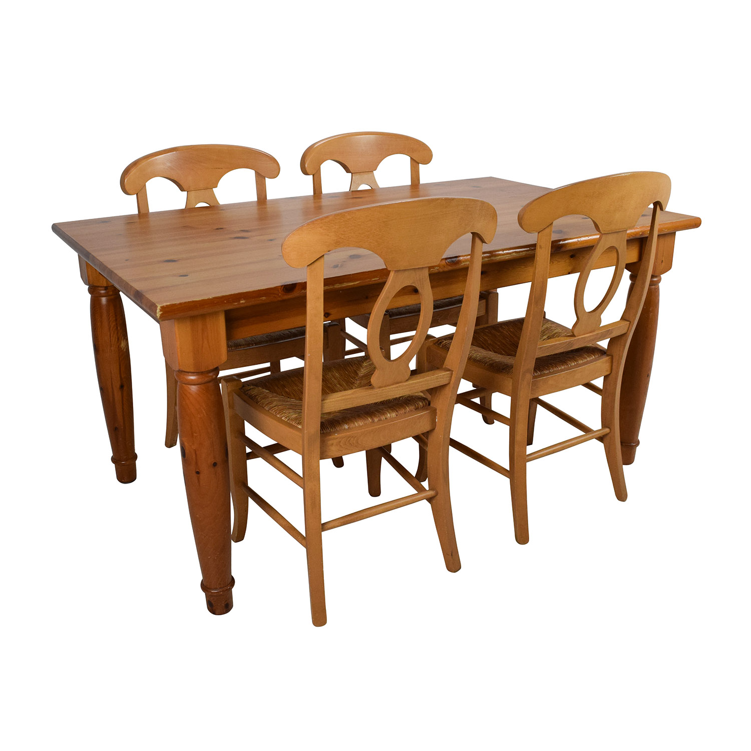 wonderful Pottery Barn Kitchen Table Set Part - 18: Pottery Barn Pottery Barn Dining Room Table with Four Chairs second hand;  buy ...