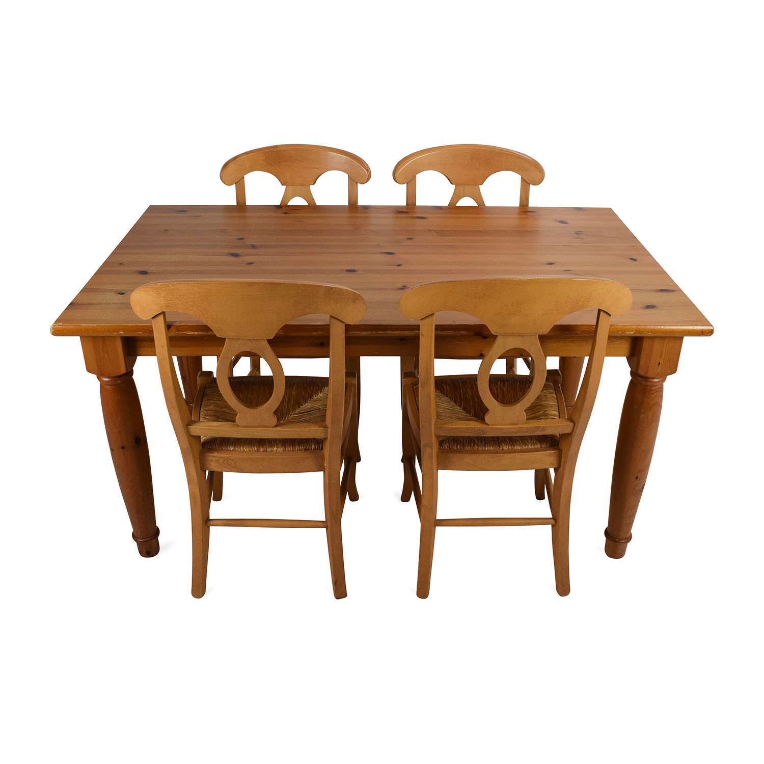 73 off pottery barn pottery barn dining room table with for Dining room table and 4 chairs