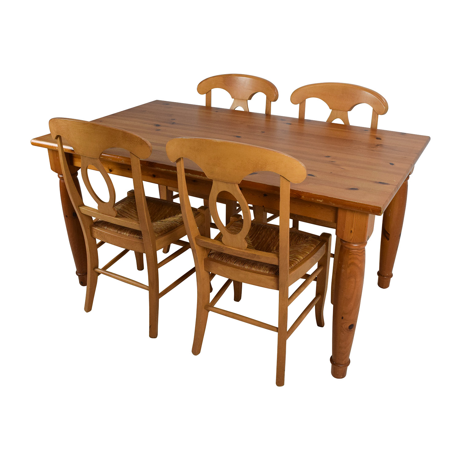 73% OFF   Pottery Barn Pottery Barn Dining Room Table With Four Chairs /  Tables