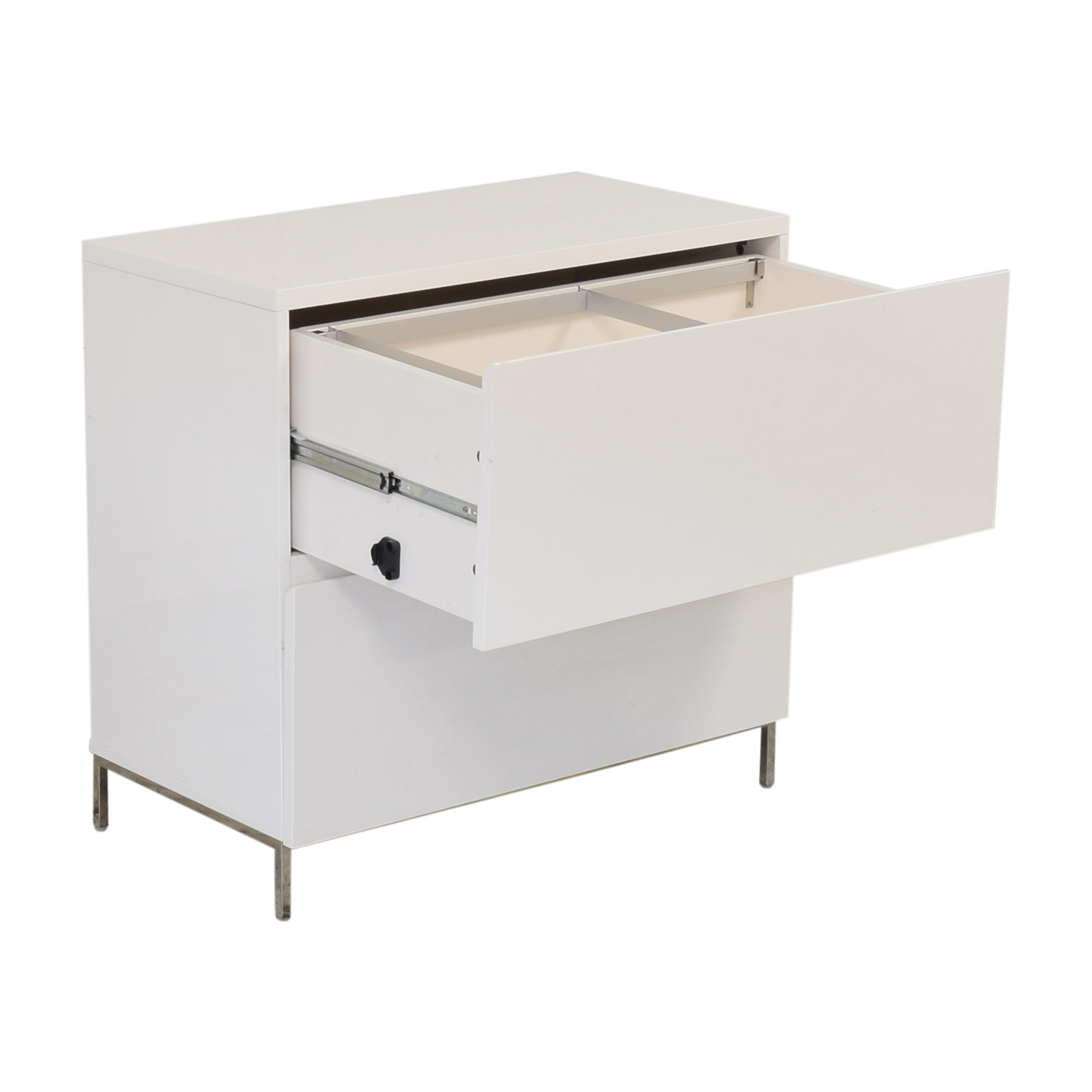 West Elm West Elm Lacquer Storage Modular Lateral File Cabinet white