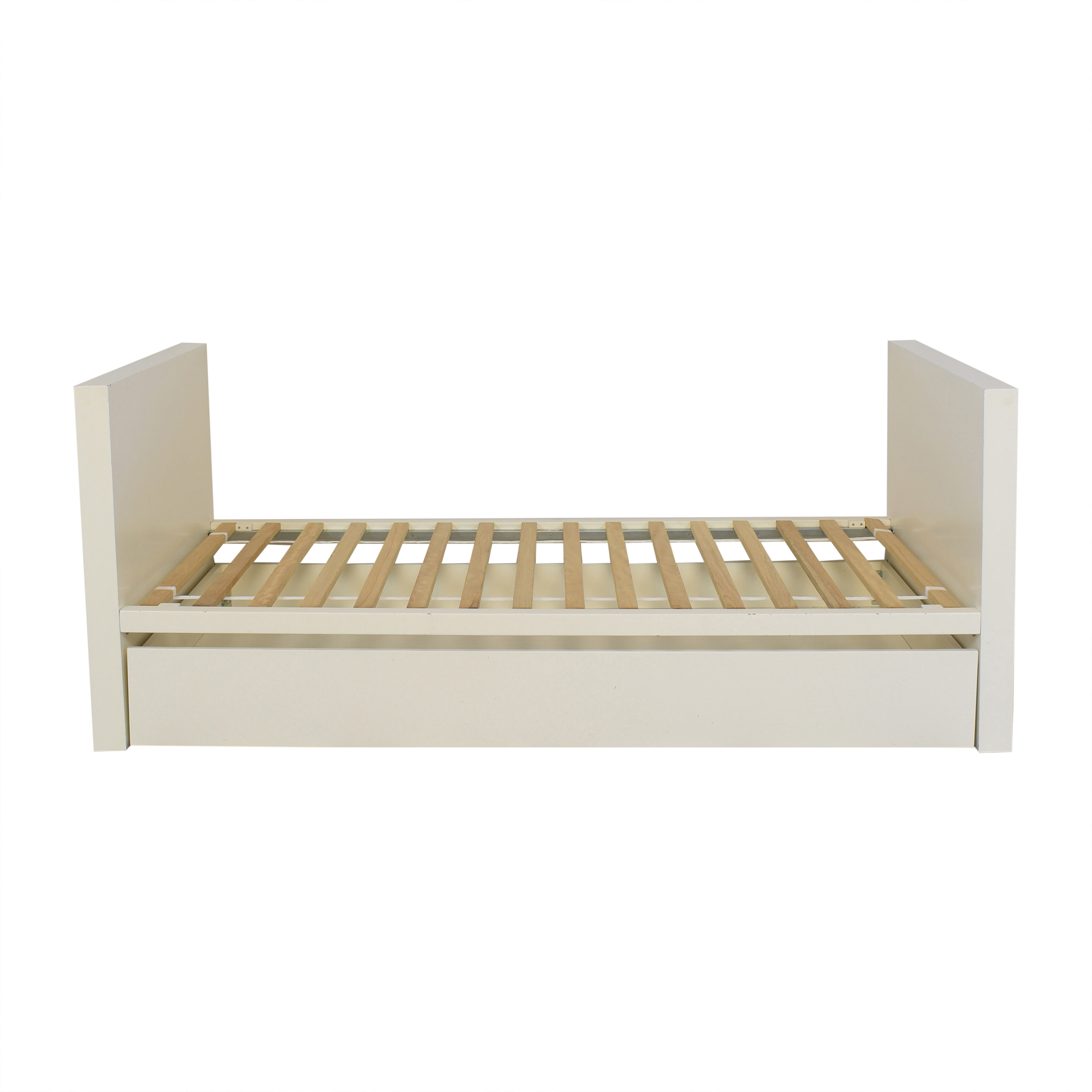 West Elm West Elm Parsons White Day Bed with Trundle white