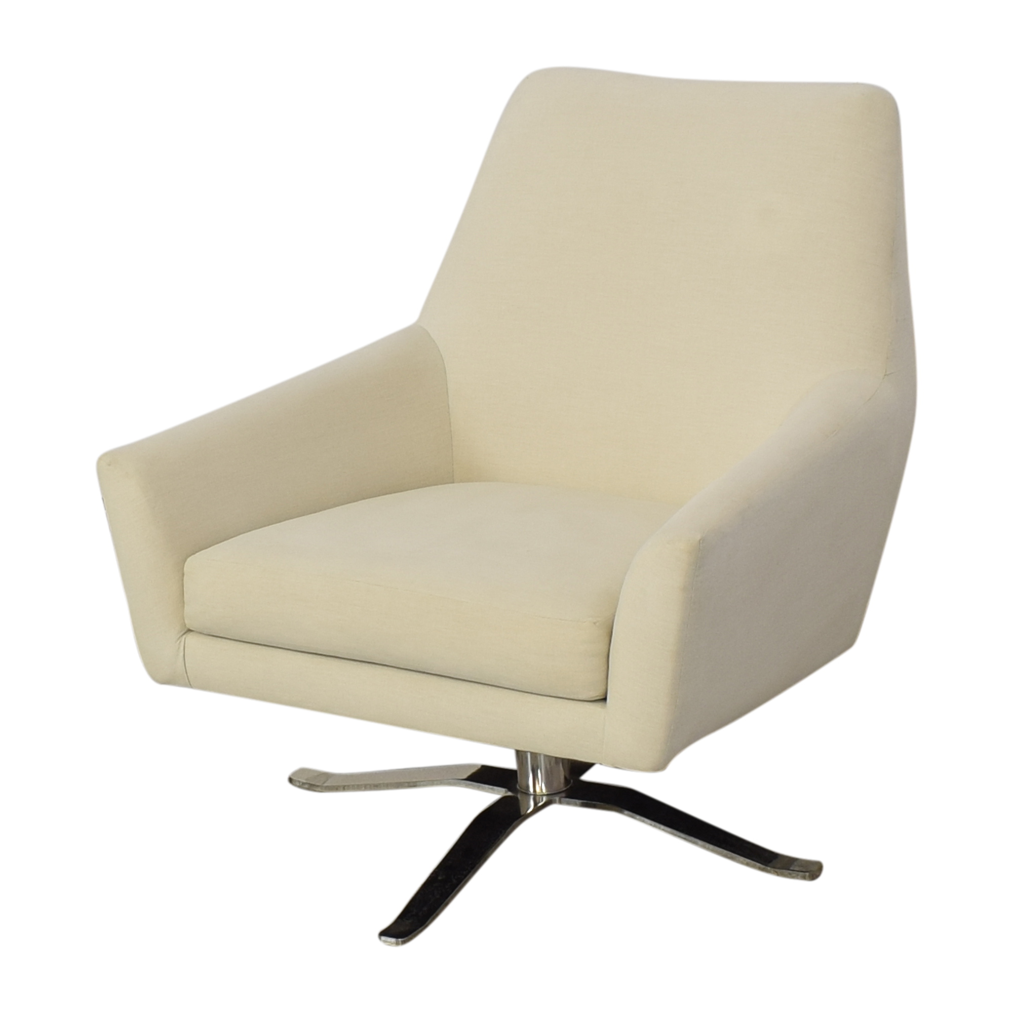 buy West Elm Lucas Swivel Chair West Elm