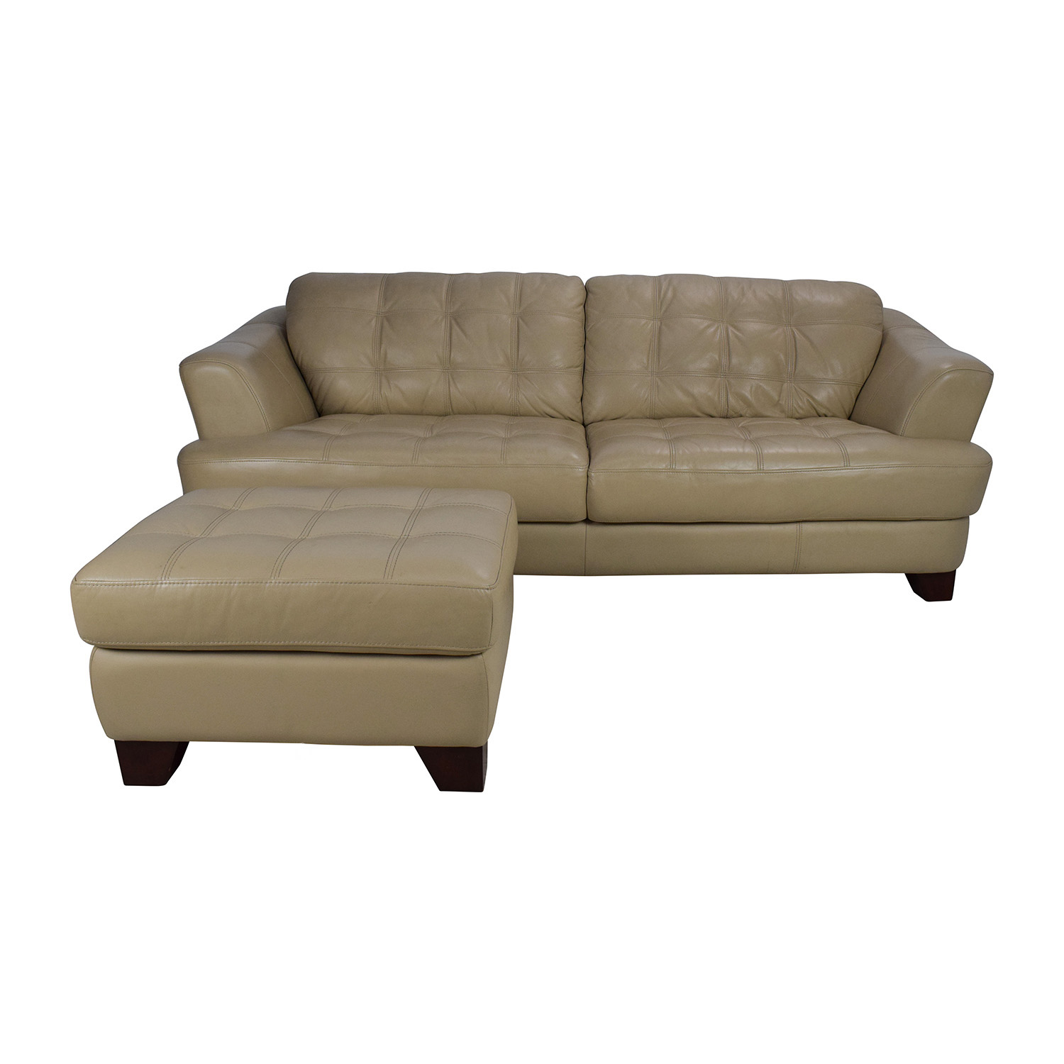 Bobs furniture leather sofa no phony gimmicks just pure for Playpen sectional sofa bobs