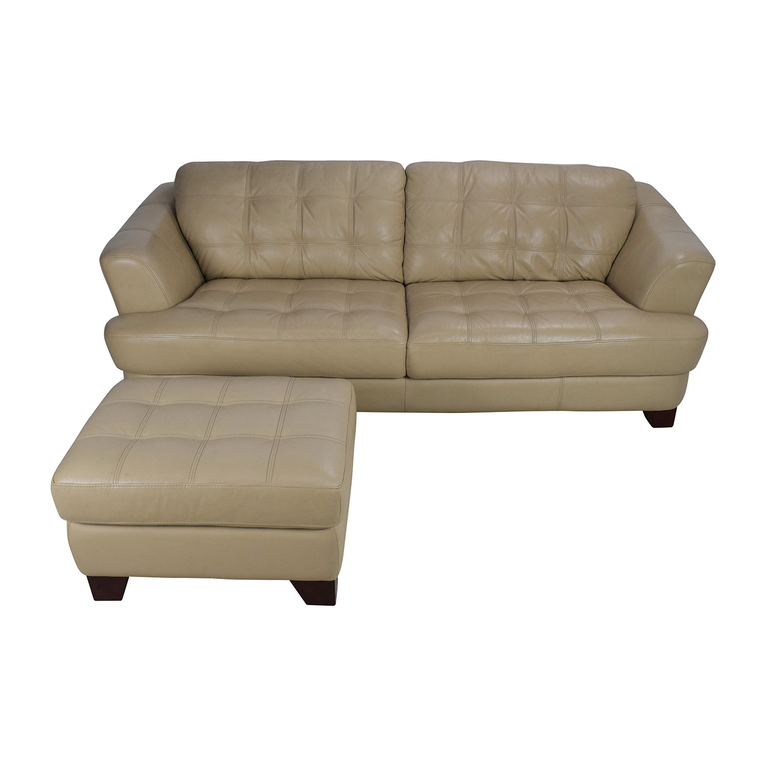 shop Bobs Furniture Leather Couch with Ottoman Bobs Furniture Classic Sofas