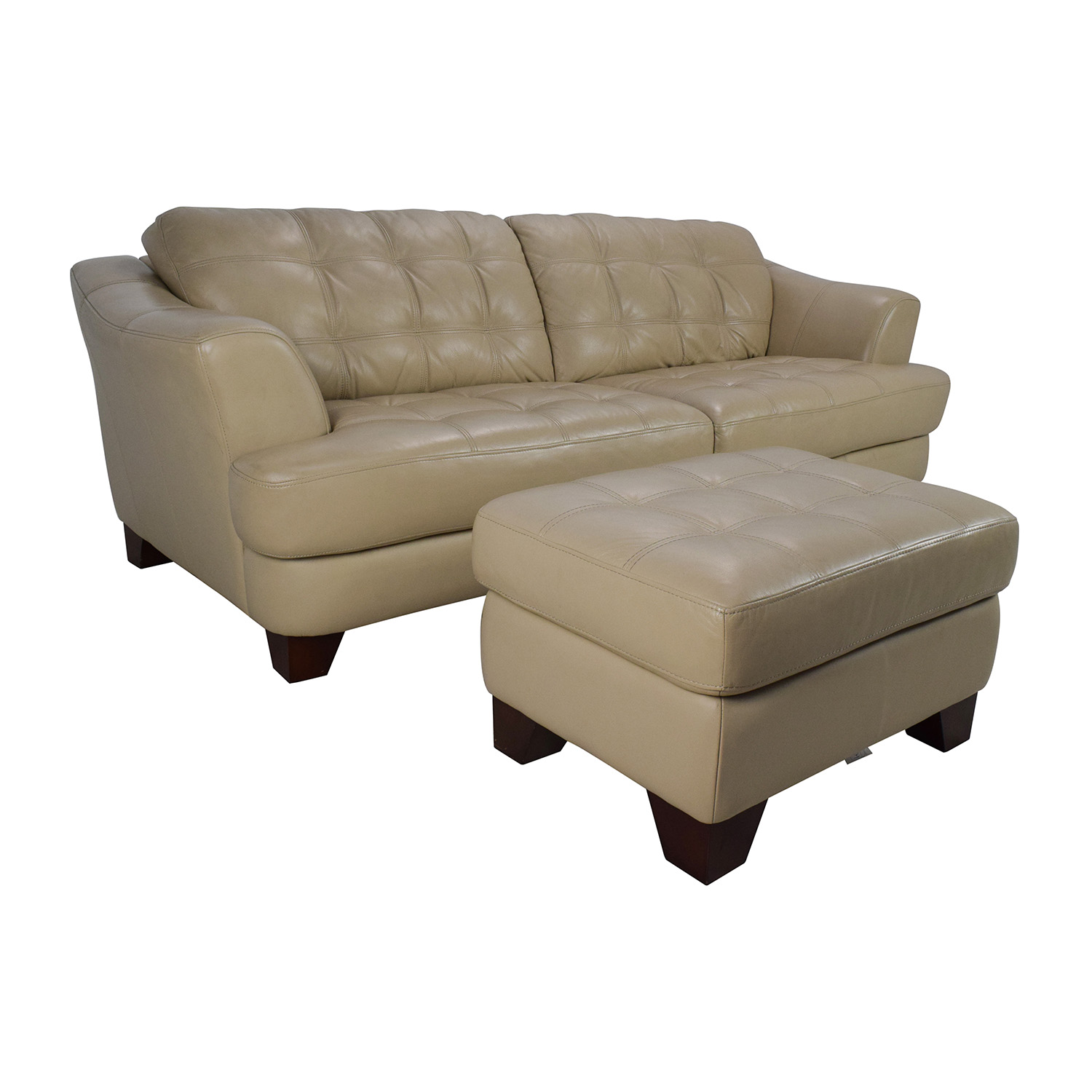 65 Off Bob 39 S Furniture Bob 39 S Furniture Leather Couch With Ottoman Sofas