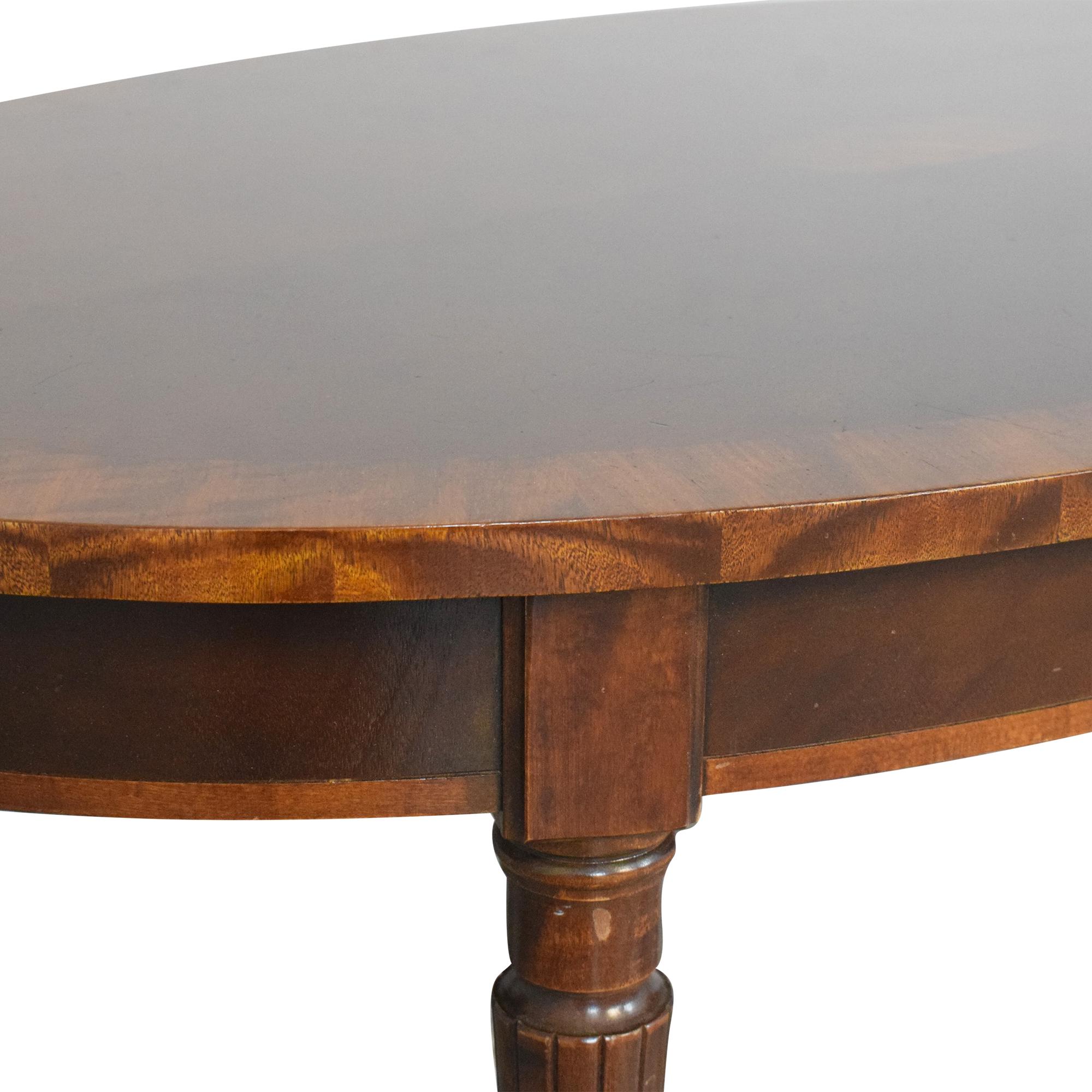 Henredon Furniture Henredon Oval Coffee Table Coffee Tables
