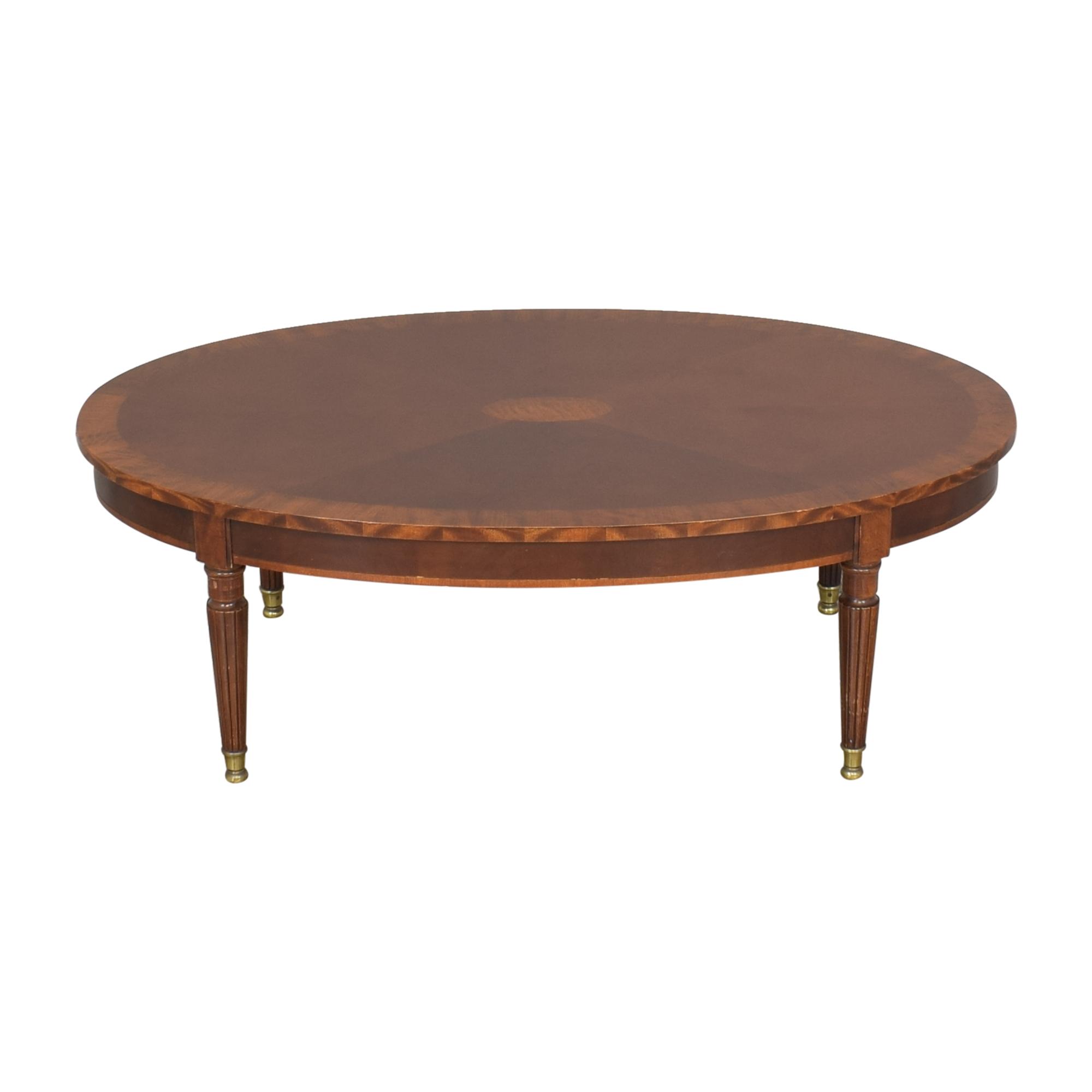 Henredon Furniture Henredon Oval Coffee Table ma