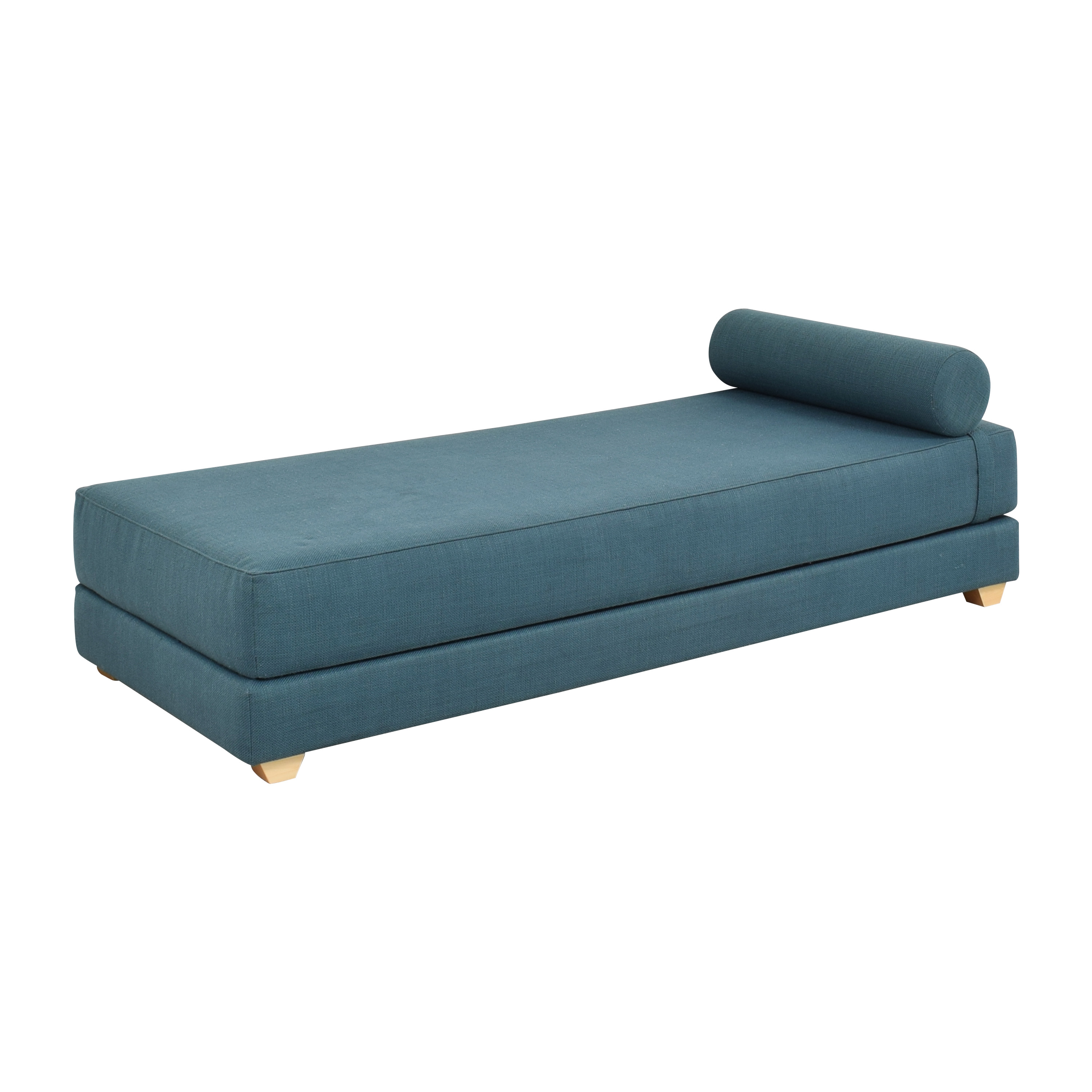 shop CB2 Lubi Blue Daybed Sleeper CB2