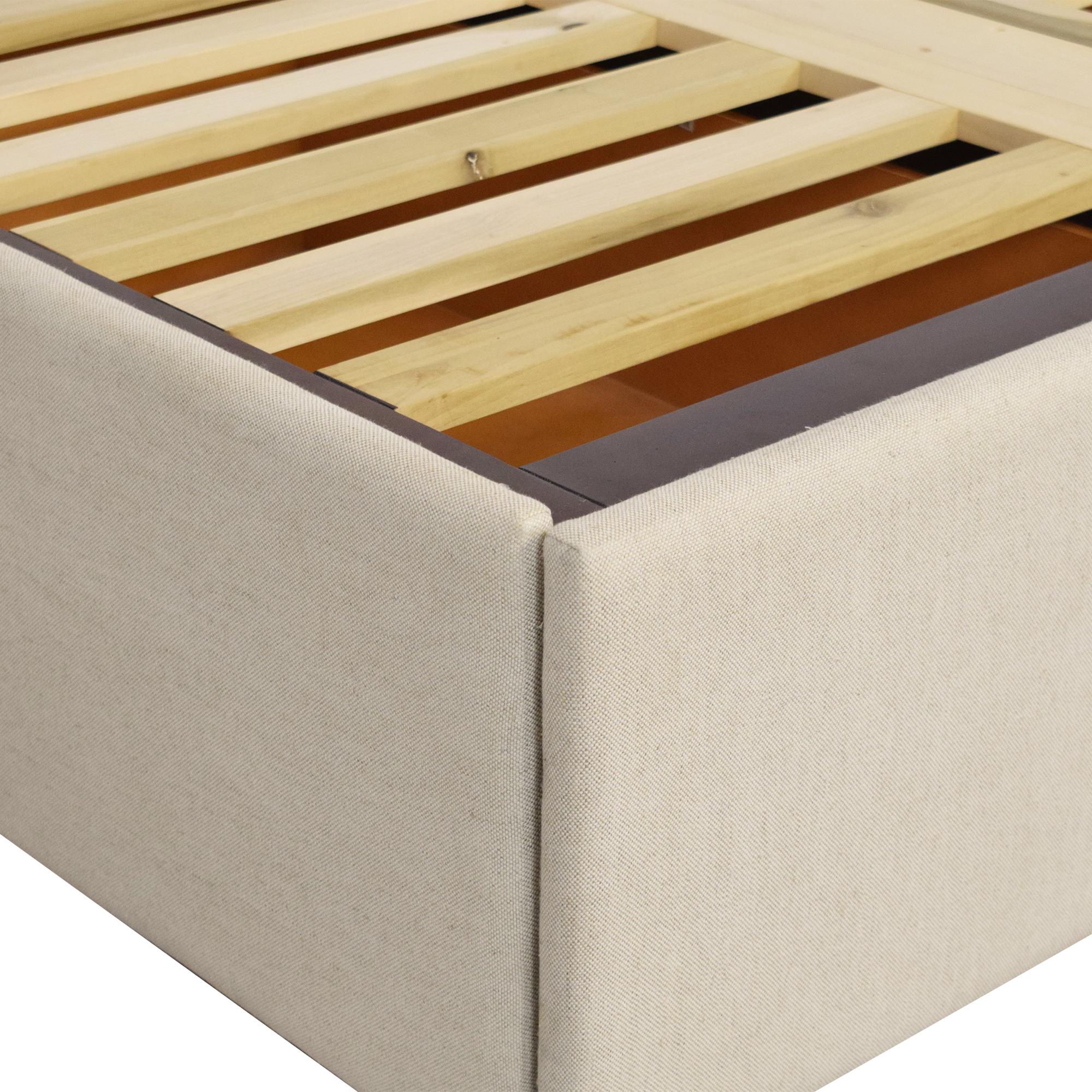 Pottery Barn Pottery Barn Upholstered Side Storage Full Platform Bed dimensions