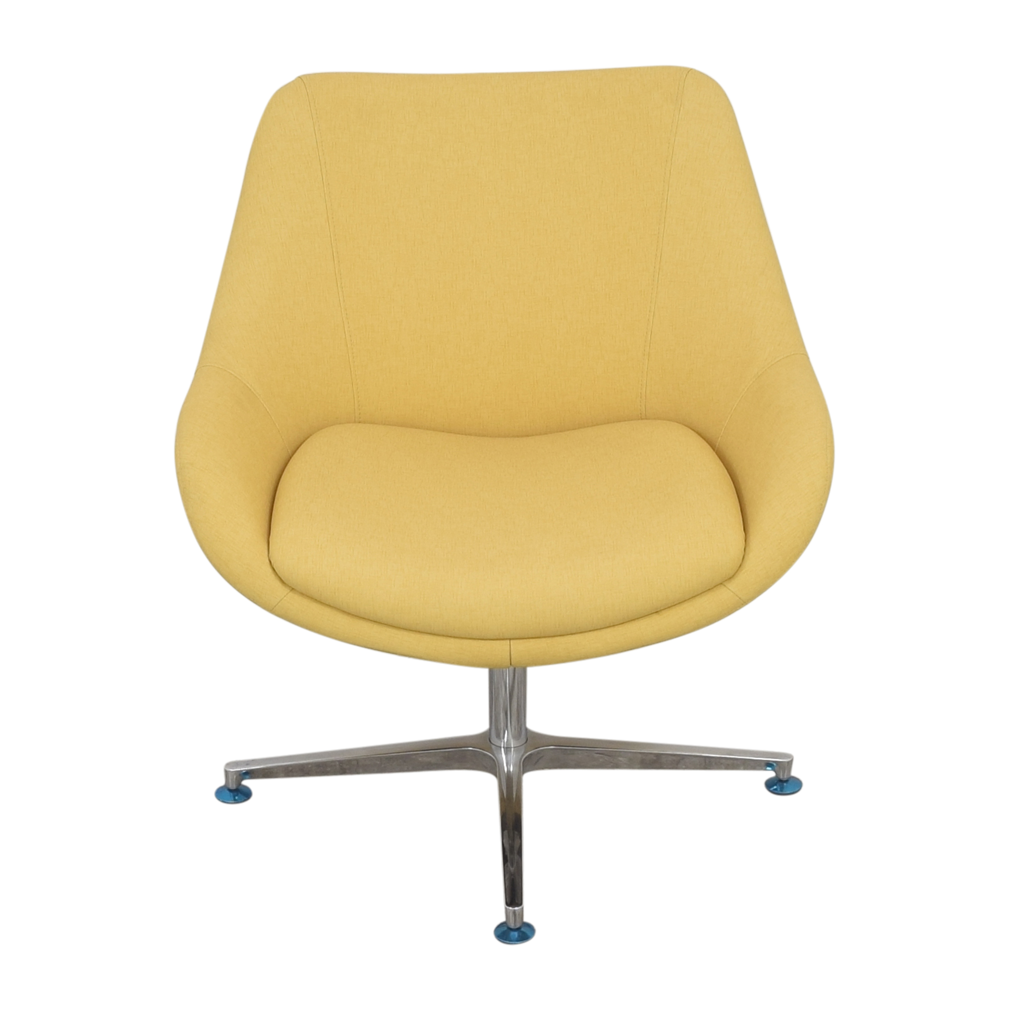 shop Kimball Bloom Swivel Lounge Chair Kimball Accent Chairs