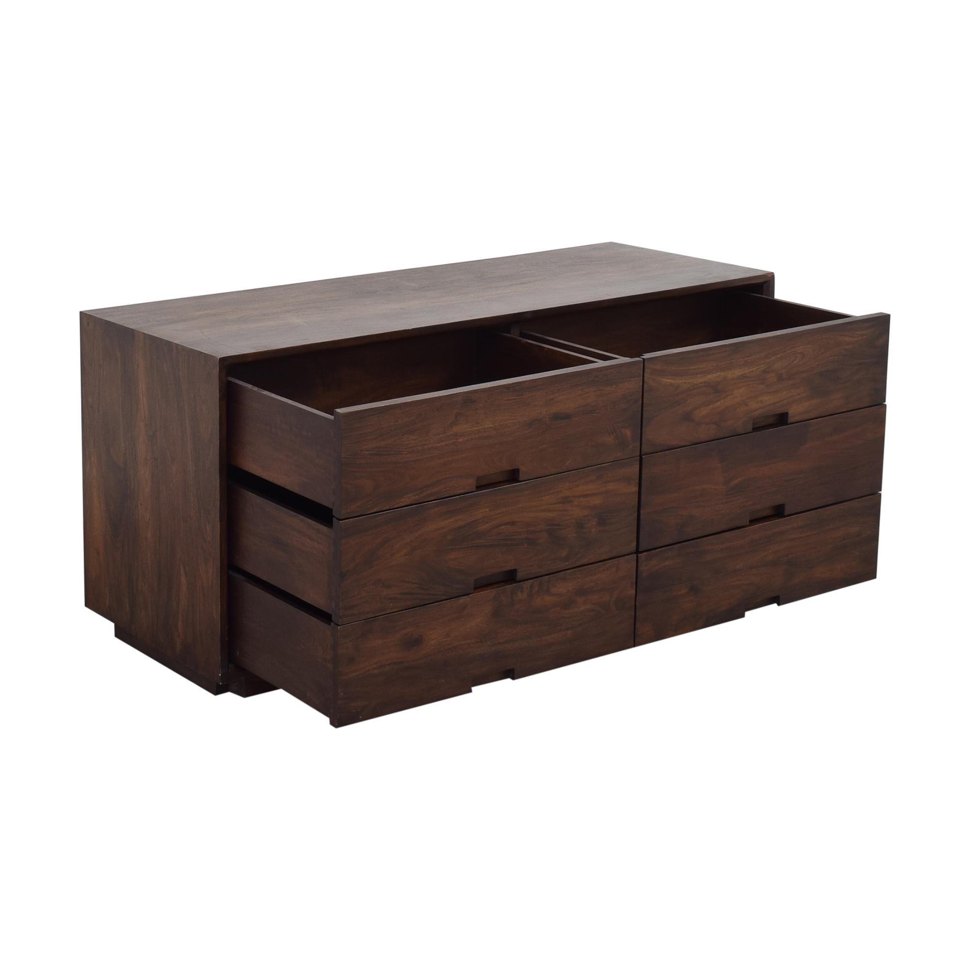 shop Crate & Barrel Steppe Six Drawer Dresser Crate & Barrel Storage