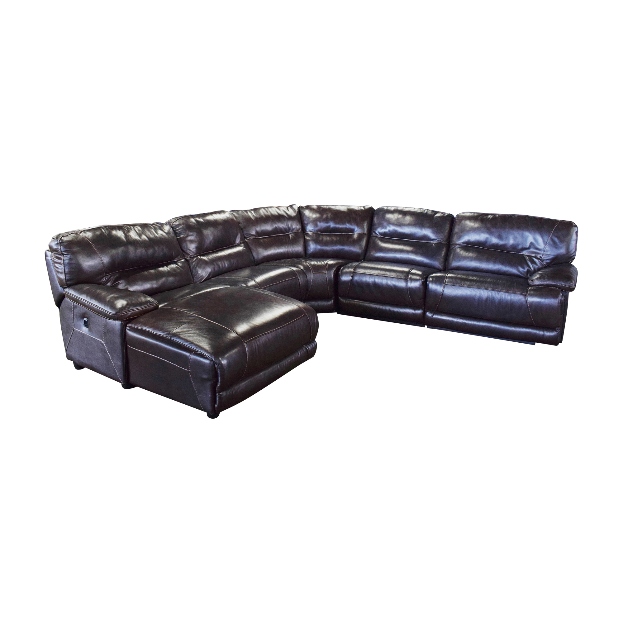 Curved Reclining Sectional Sofa