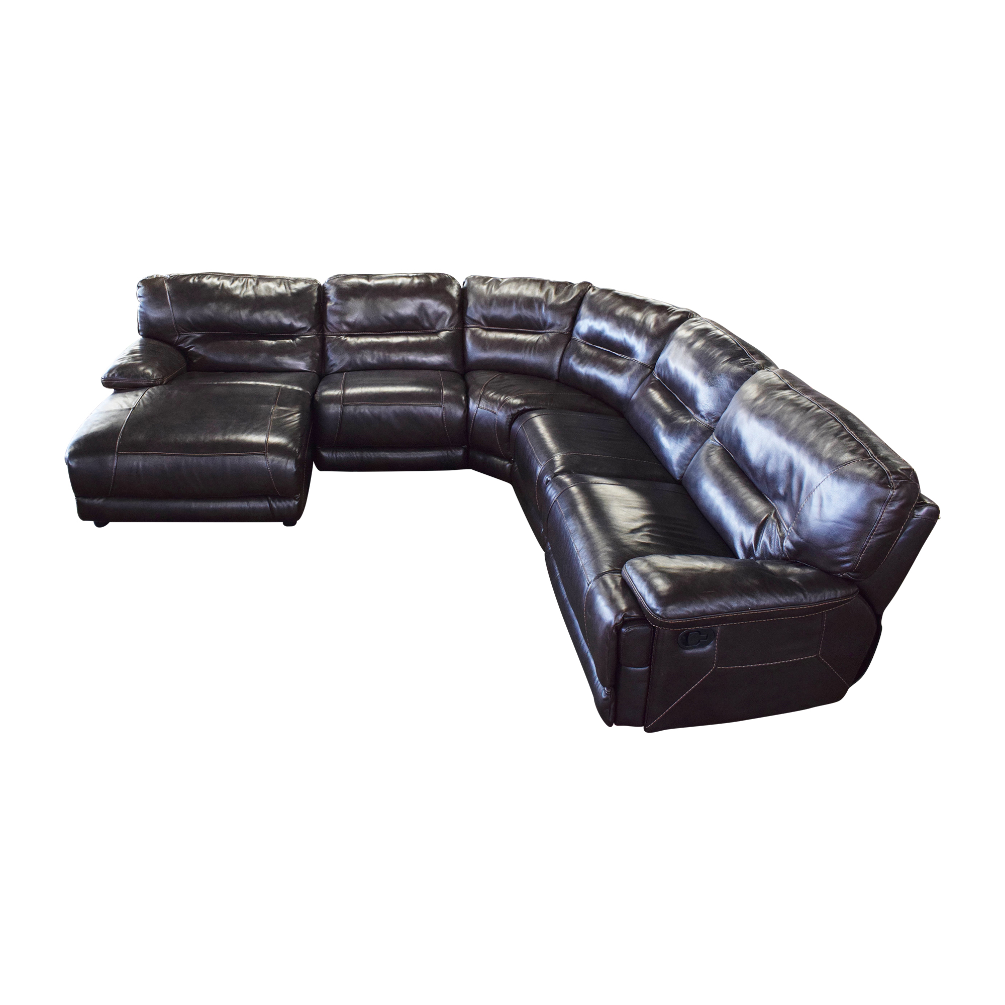 Curved Reclining Sectional Sofa nj