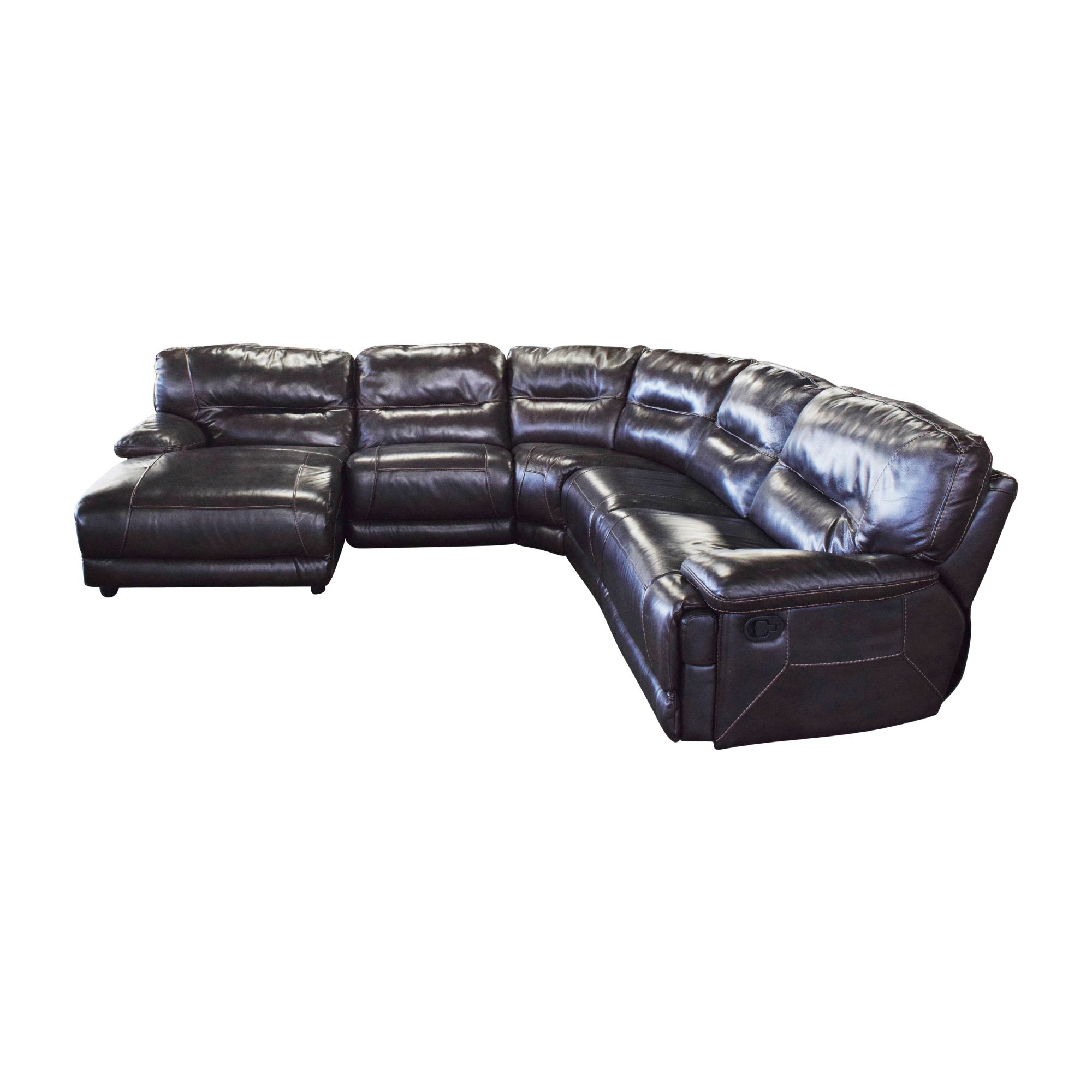 Curved Reclining Sectional Sofa / Sofas
