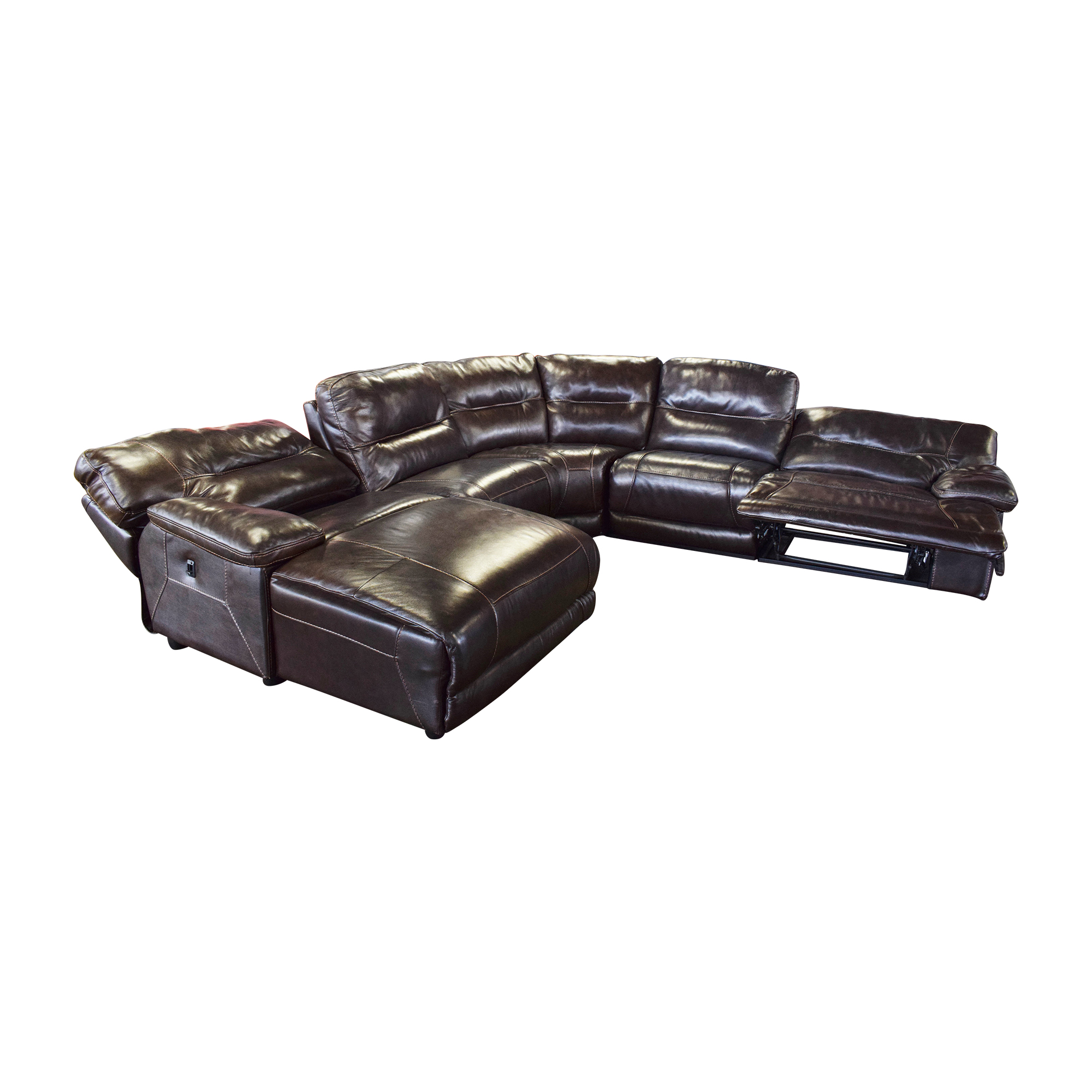 Curved Reclining Sectional Sofa sale