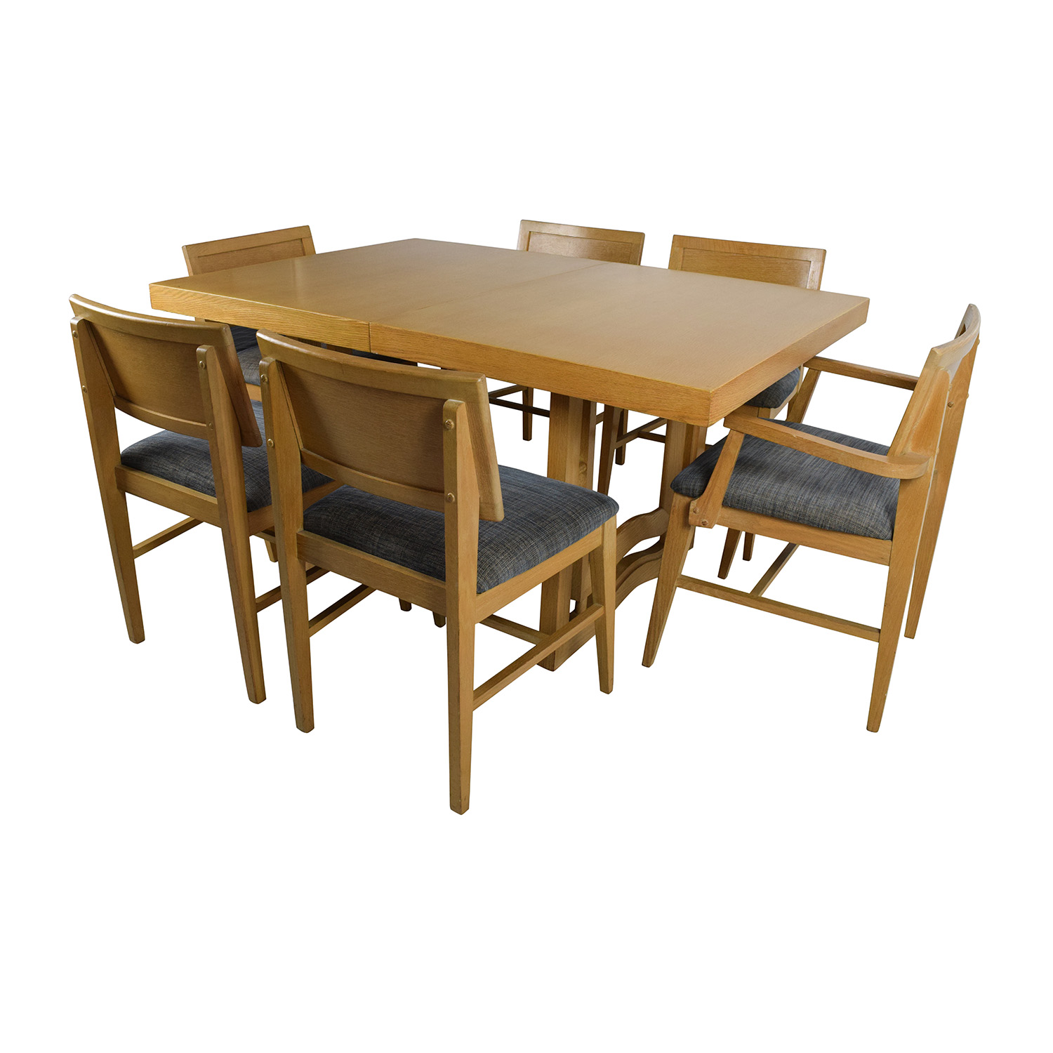 Mid-Century Extension Dining Table and Six Chairs discount
