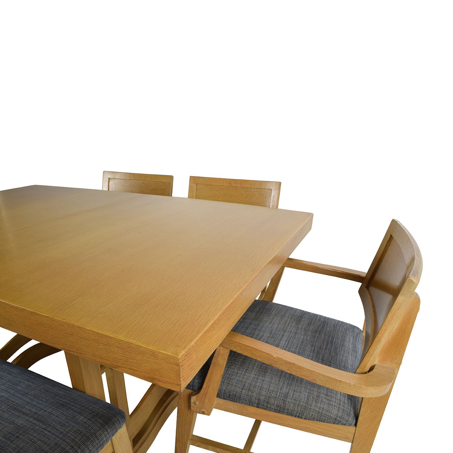 59 off mid century extension dining table and six for Dining table with 6 chairs cheap