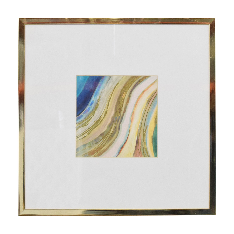 buy Z Gallerie Agate in Peacock 1 Wall Art Z Gallerie Wall Art