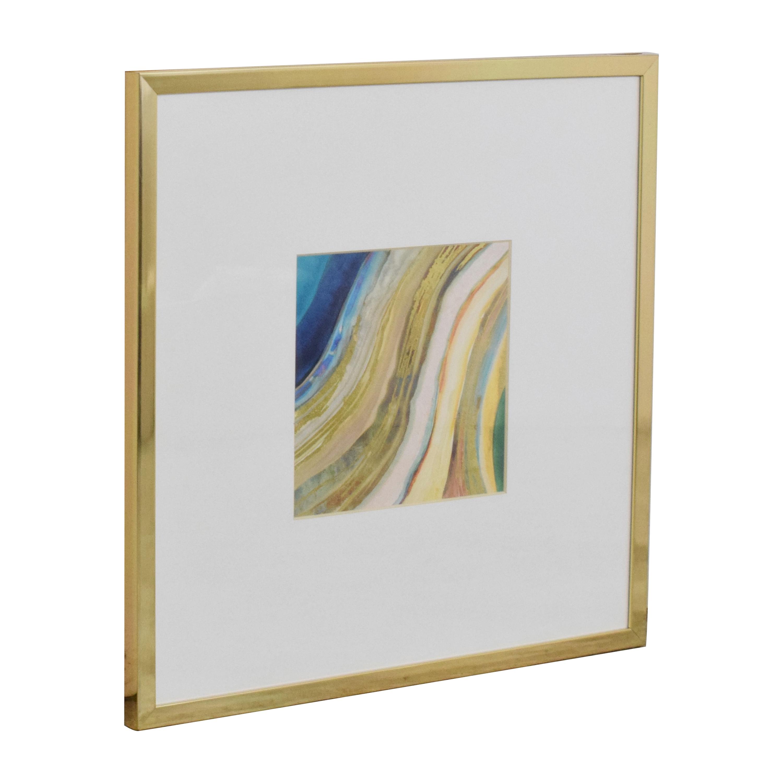 Z Gallerie Agate in Peacock 1 Wall Art Z Gallerie