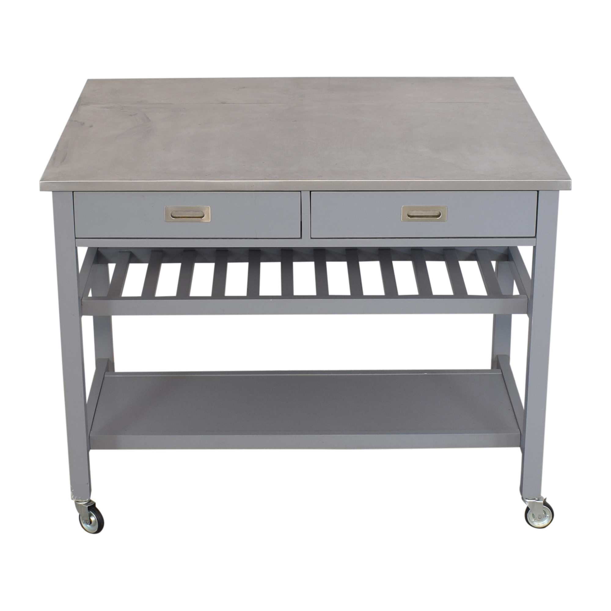buy Crate & Barrel Belmont Open Kitchen Island Crate & Barrel Tables