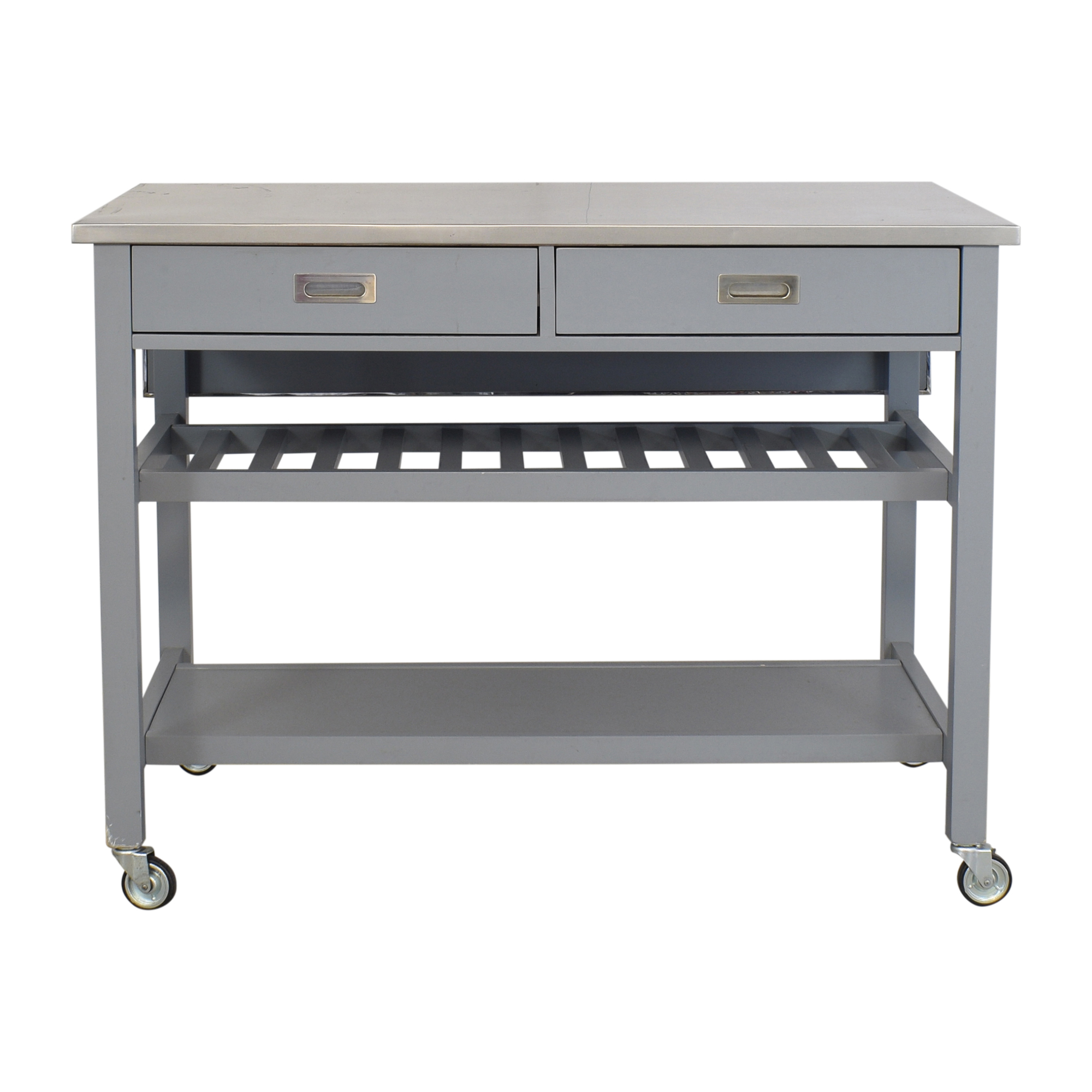 shop Crate & Barrel Belmont Open Kitchen Island Crate & Barrel Utility Tables
