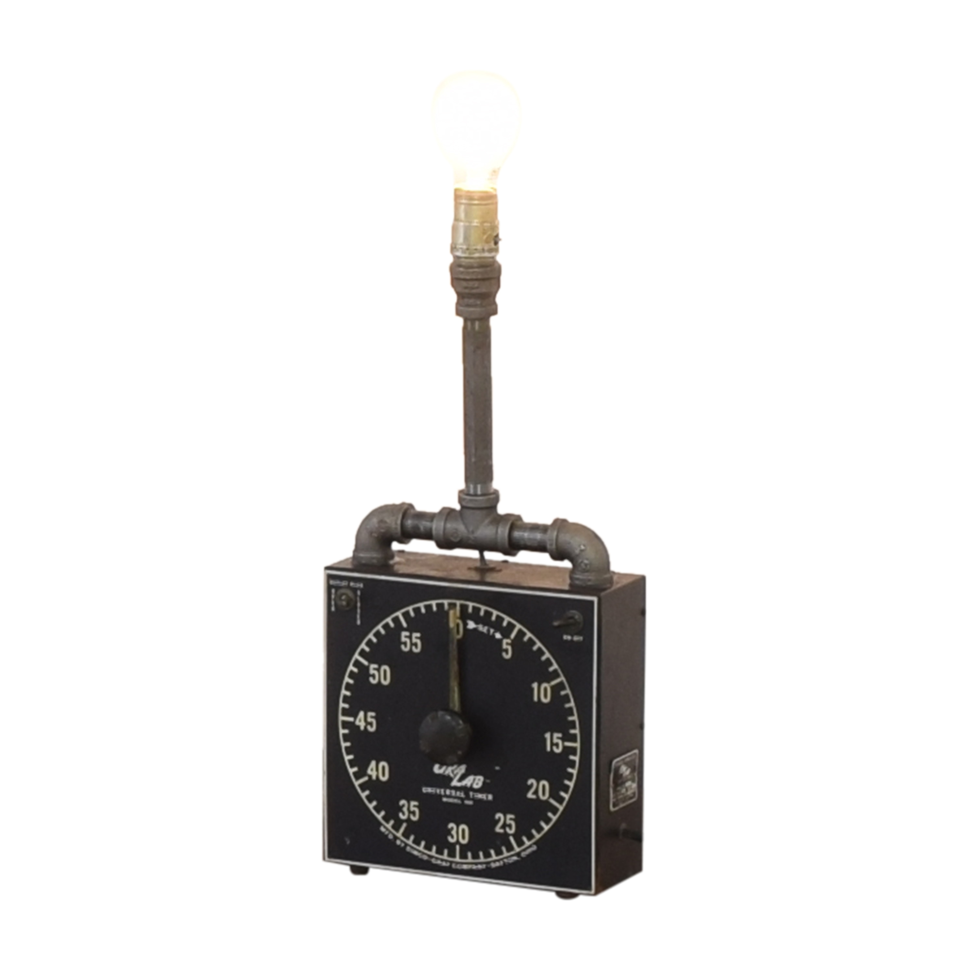 GraLab Darkroom Timer Table Lamp dimensions