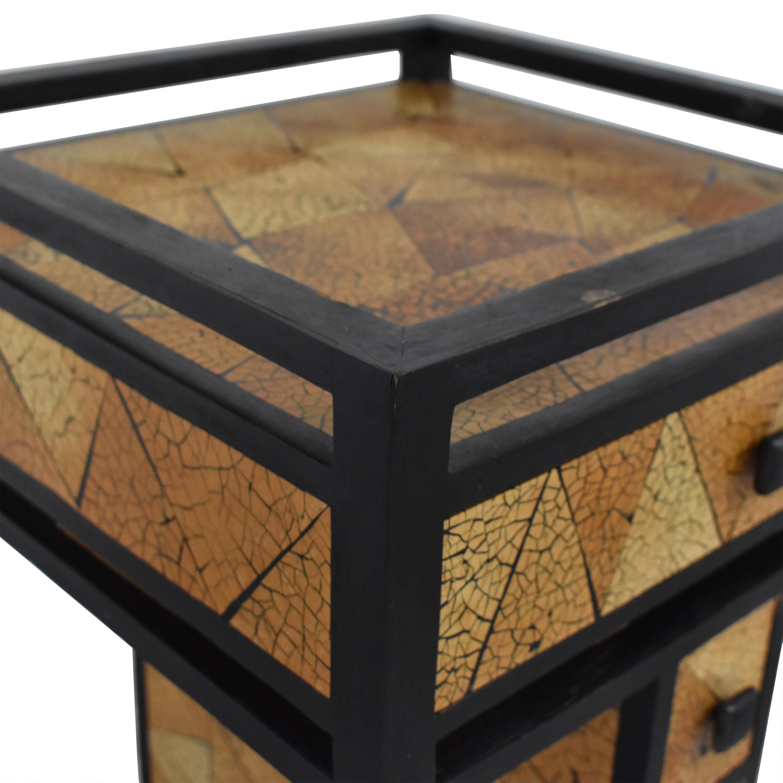 R & Y Augousti R & Y Agousti Hancrafted Artisnal Cabinet on Castors Accent Tables
