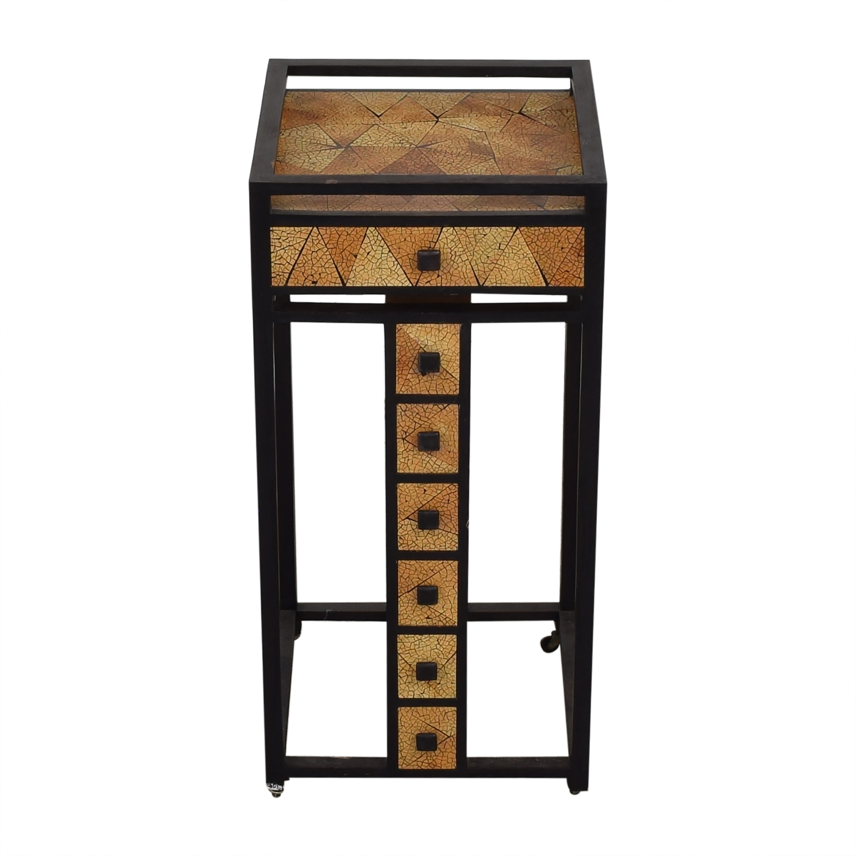 buy R & Y Agousti Hancrafted Artisnal Cabinet on Castors R & Y Augousti Accent Tables